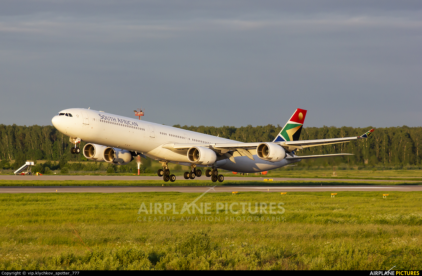 South African Airways ZS-SND aircraft at Moscow - Domodedovo