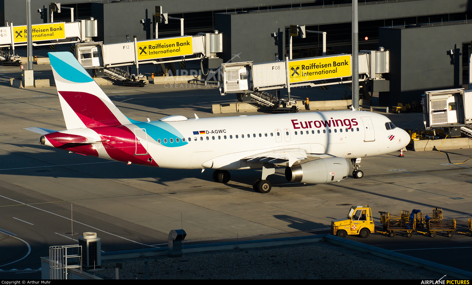 Eurowings D-AGWC aircraft at Vienna - Schwechat