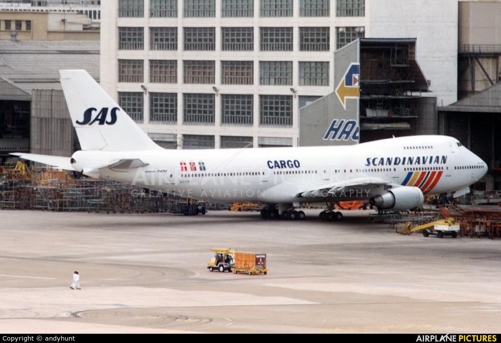 SAS - Scandinavian Airlines N517MC aircraft at HKG - Kai Tak Intl CLOSED