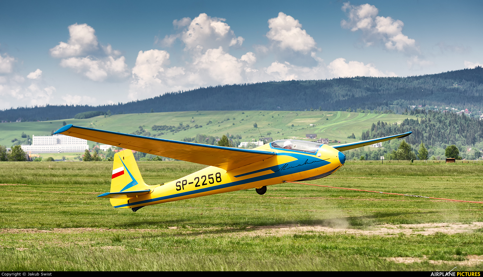 Private SP-2258 aircraft at Nowy Targ Airport