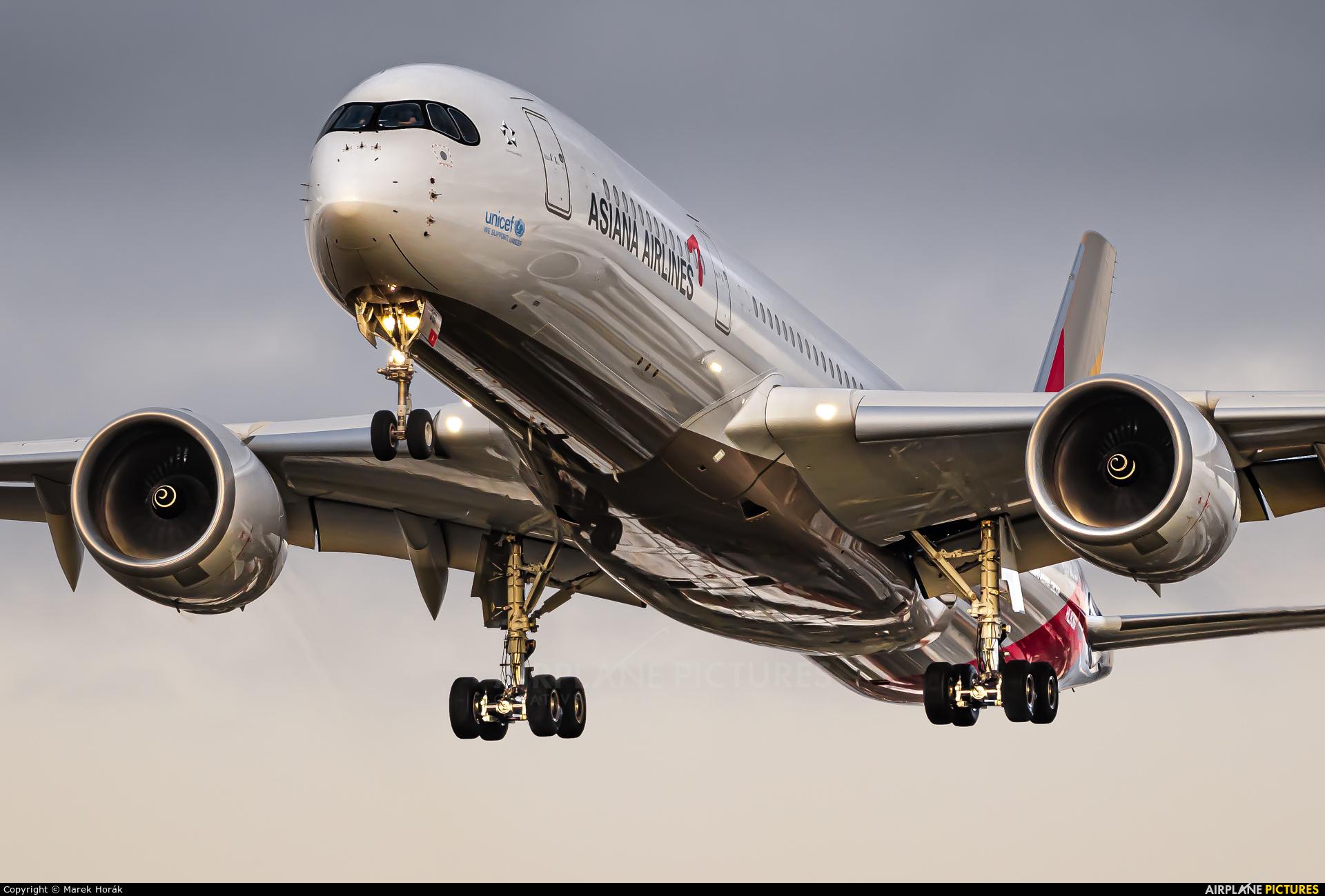 Asiana Airlines HL8361 aircraft at London - Heathrow
