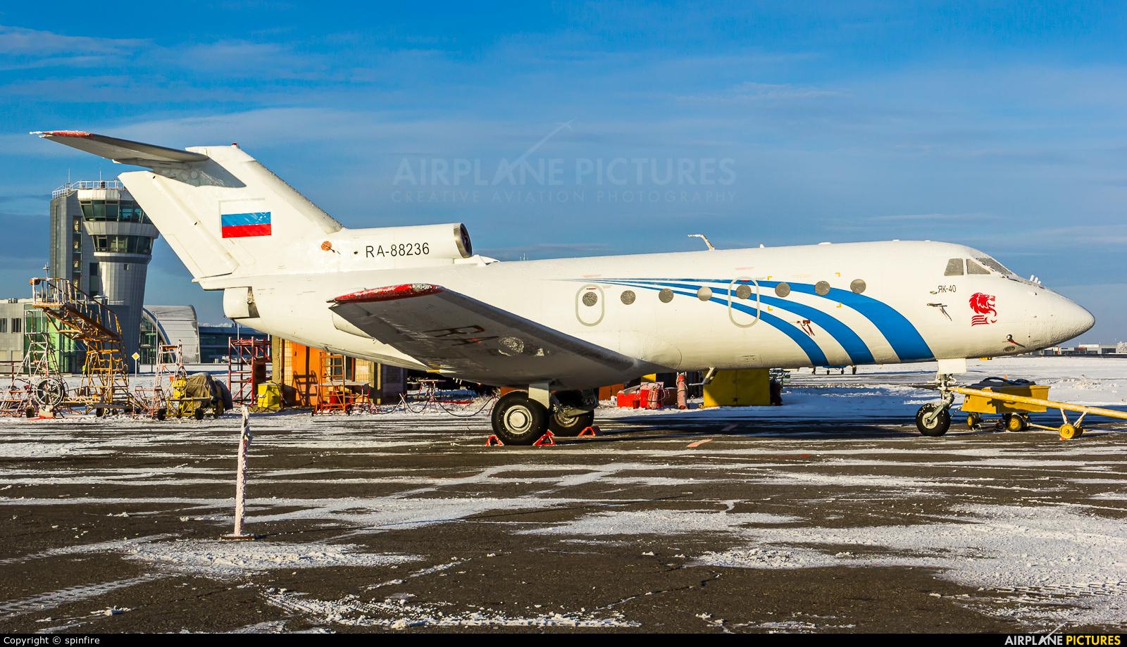 Private RA-88236 aircraft at Belgorod Intl