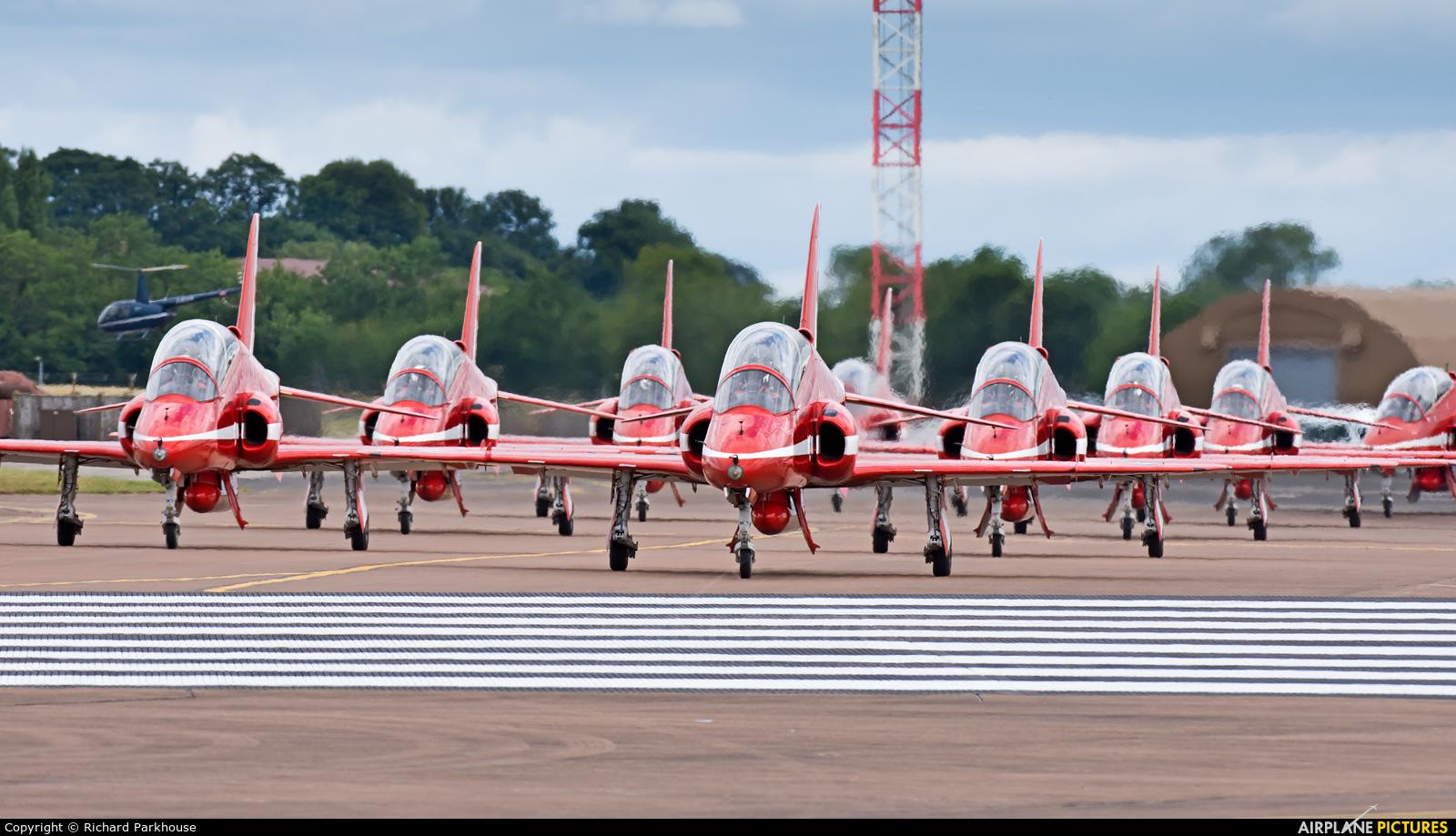 "Royal Air Force ""Red Arrows"" - aircraft at Fairford"