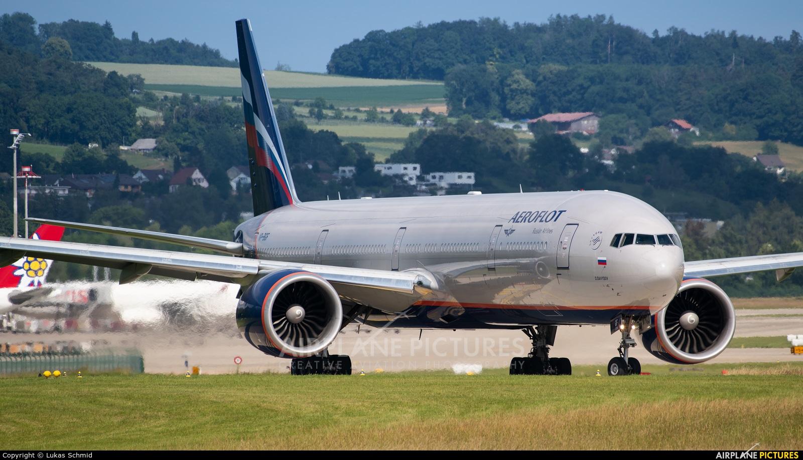 Aeroflot VP-BGF aircraft at Zurich