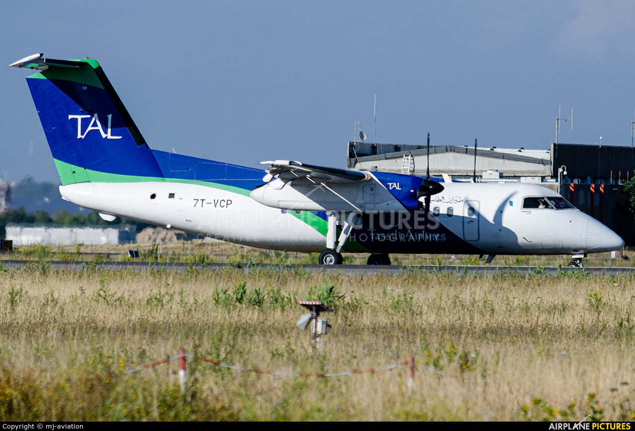 Tassili Airlines 7T-VCP aircraft at Rome - Fiumicino