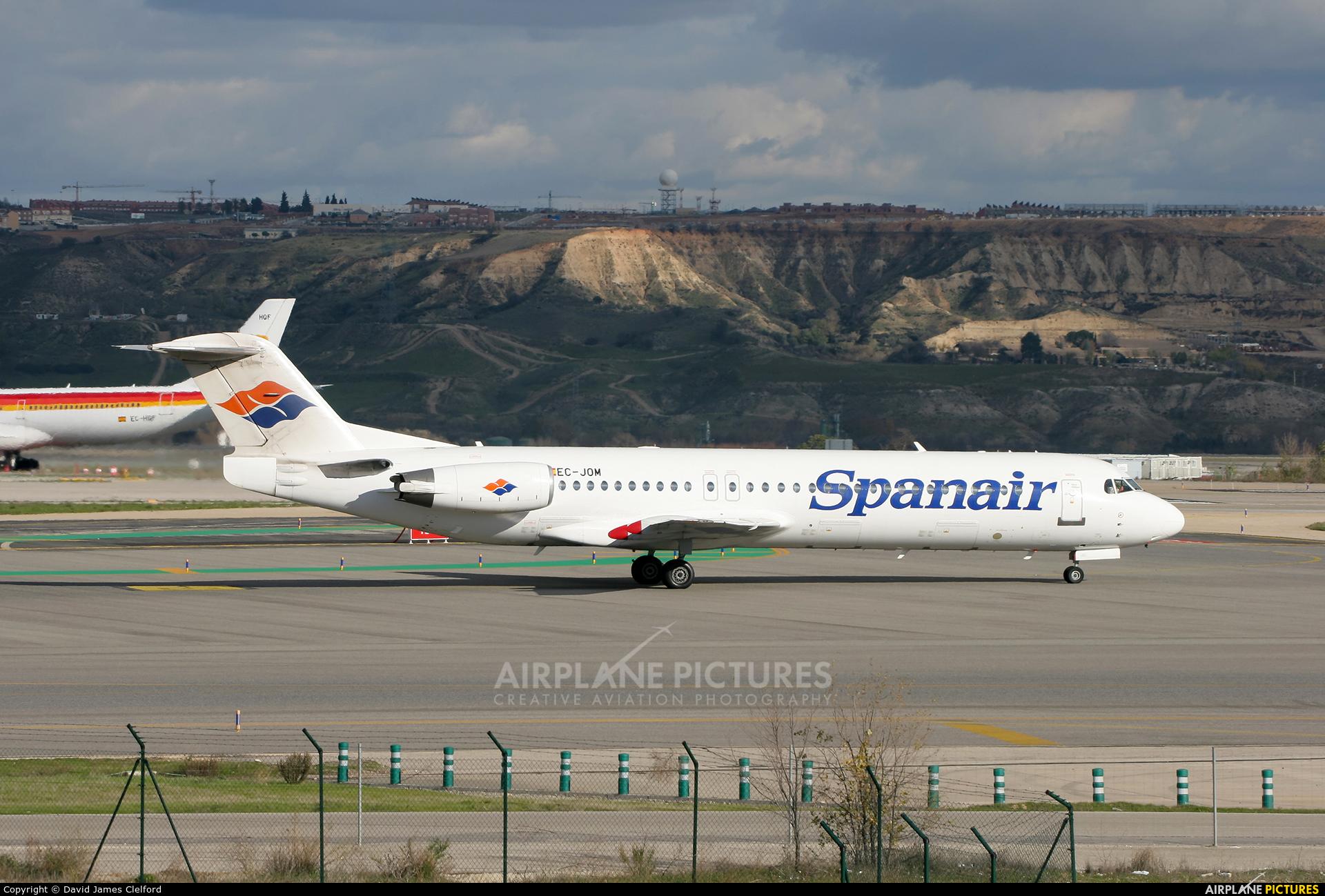 Spanair EC-JOM aircraft at Madrid - Barajas
