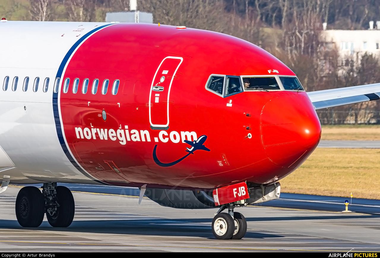Norwegian Air International EI-FJB aircraft at Kraków - John Paul II Intl