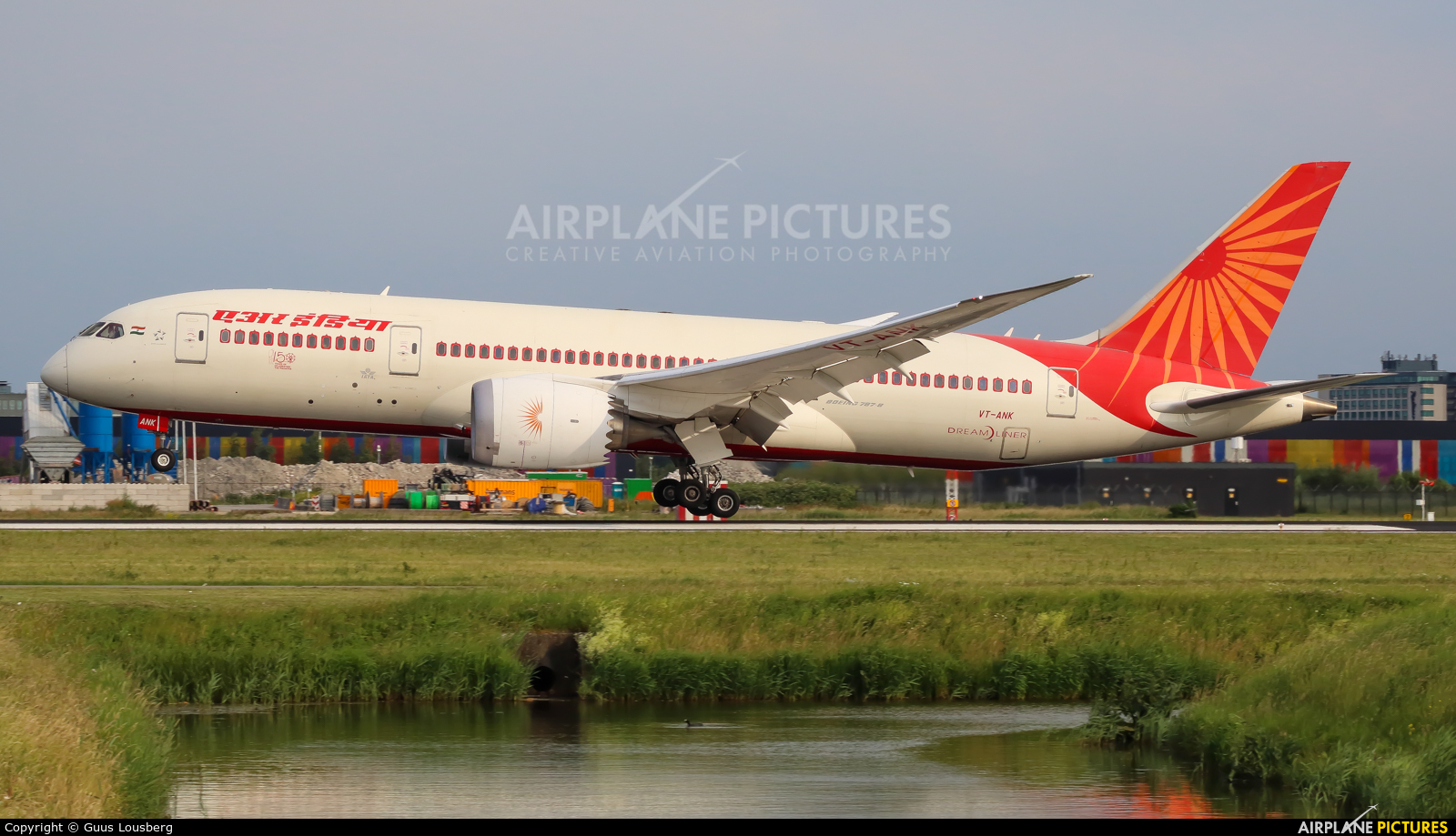 Air India VT-ANK aircraft at Amsterdam - Schiphol