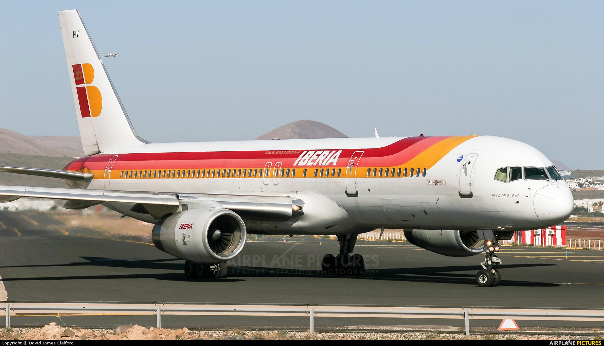 Iberia EC-HIV aircraft at Lanzarote - Arrecife
