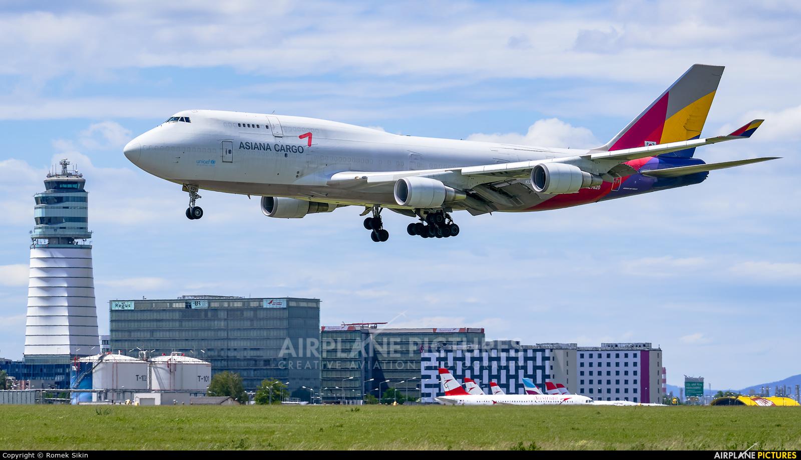 Asiana Cargo HL7620 aircraft at Vienna - Schwechat