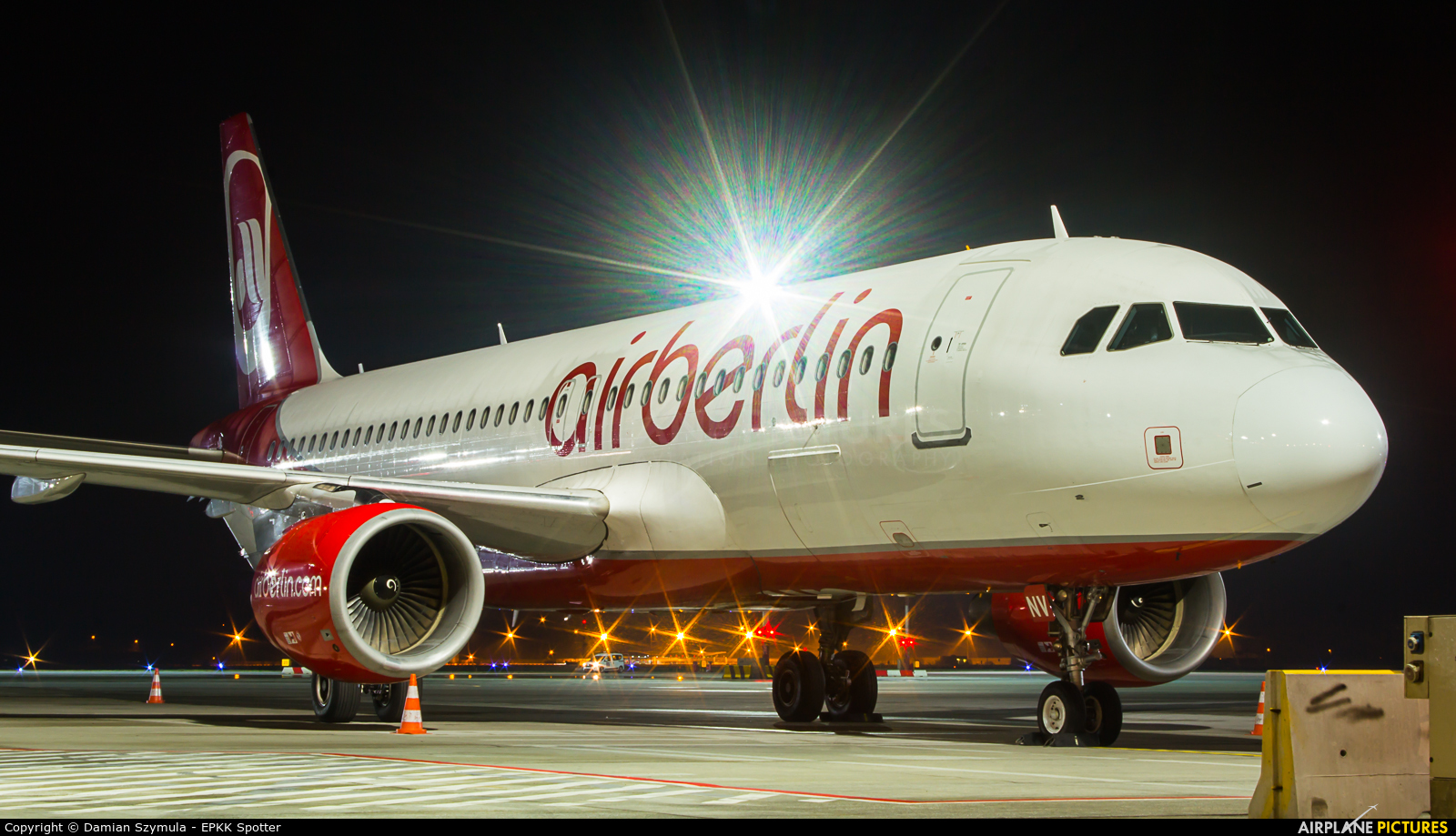 Air Berlin D-ABNV aircraft at Kraków - John Paul II Intl