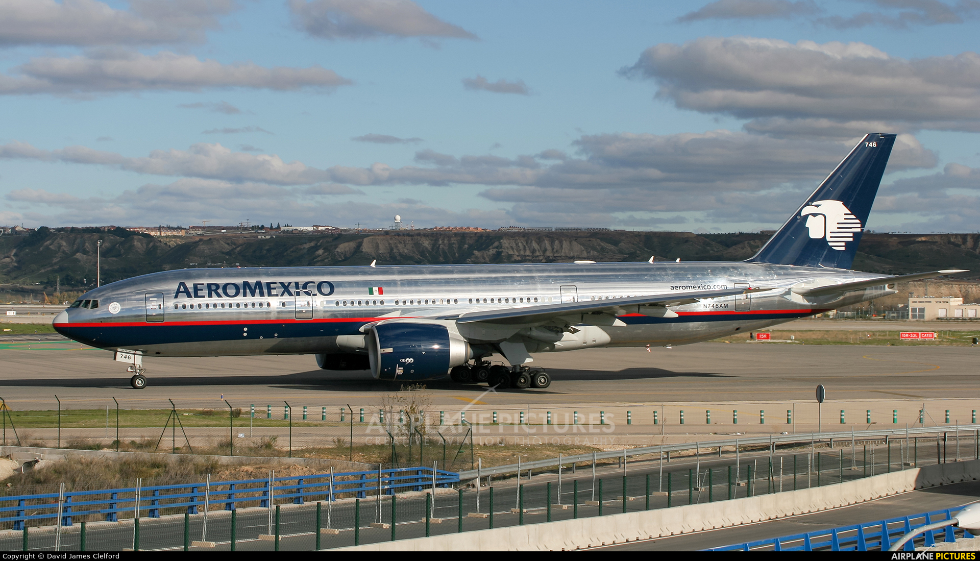 Aeromexico N746AM aircraft at Madrid - Barajas
