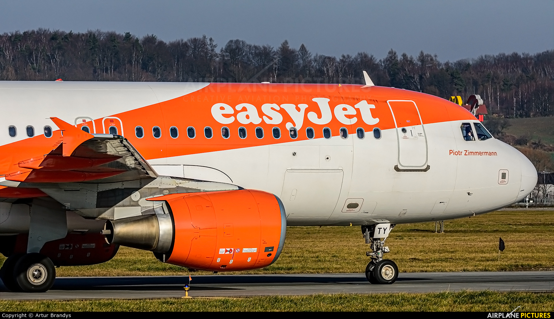easyJet G-EZTY aircraft at Kraków - John Paul II Intl