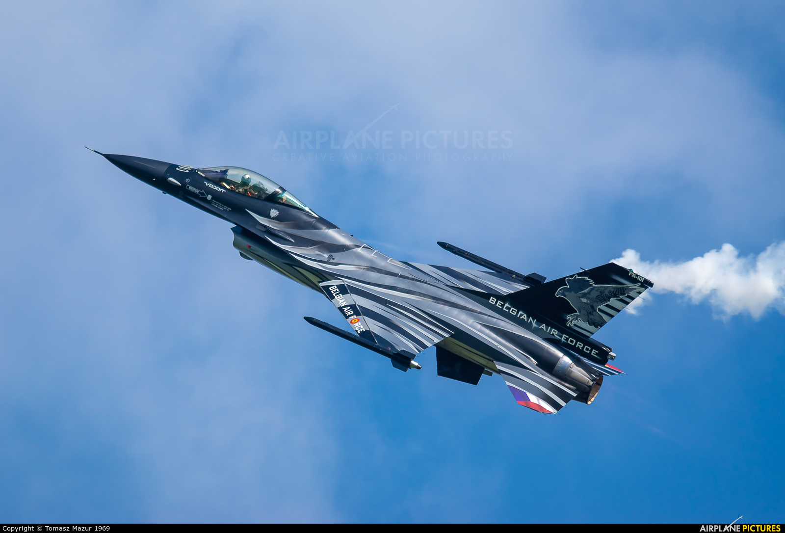Belgium - Air Force FA-101 aircraft at Ostrava Mošnov