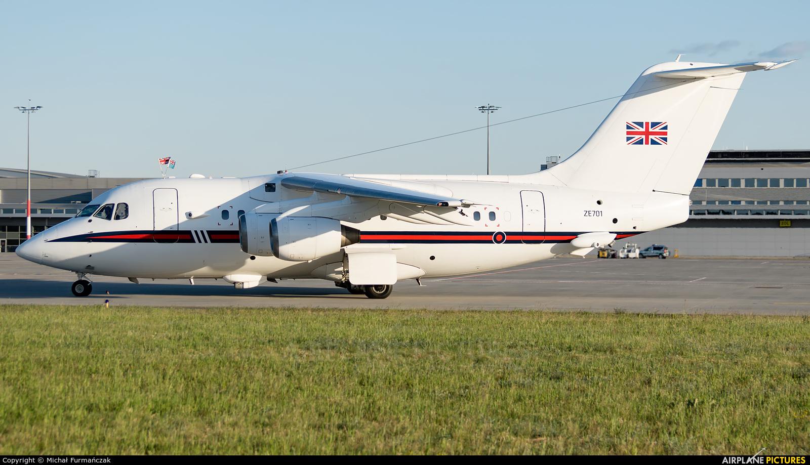 Royal Air Force ZE701 aircraft at Poznań - Ławica
