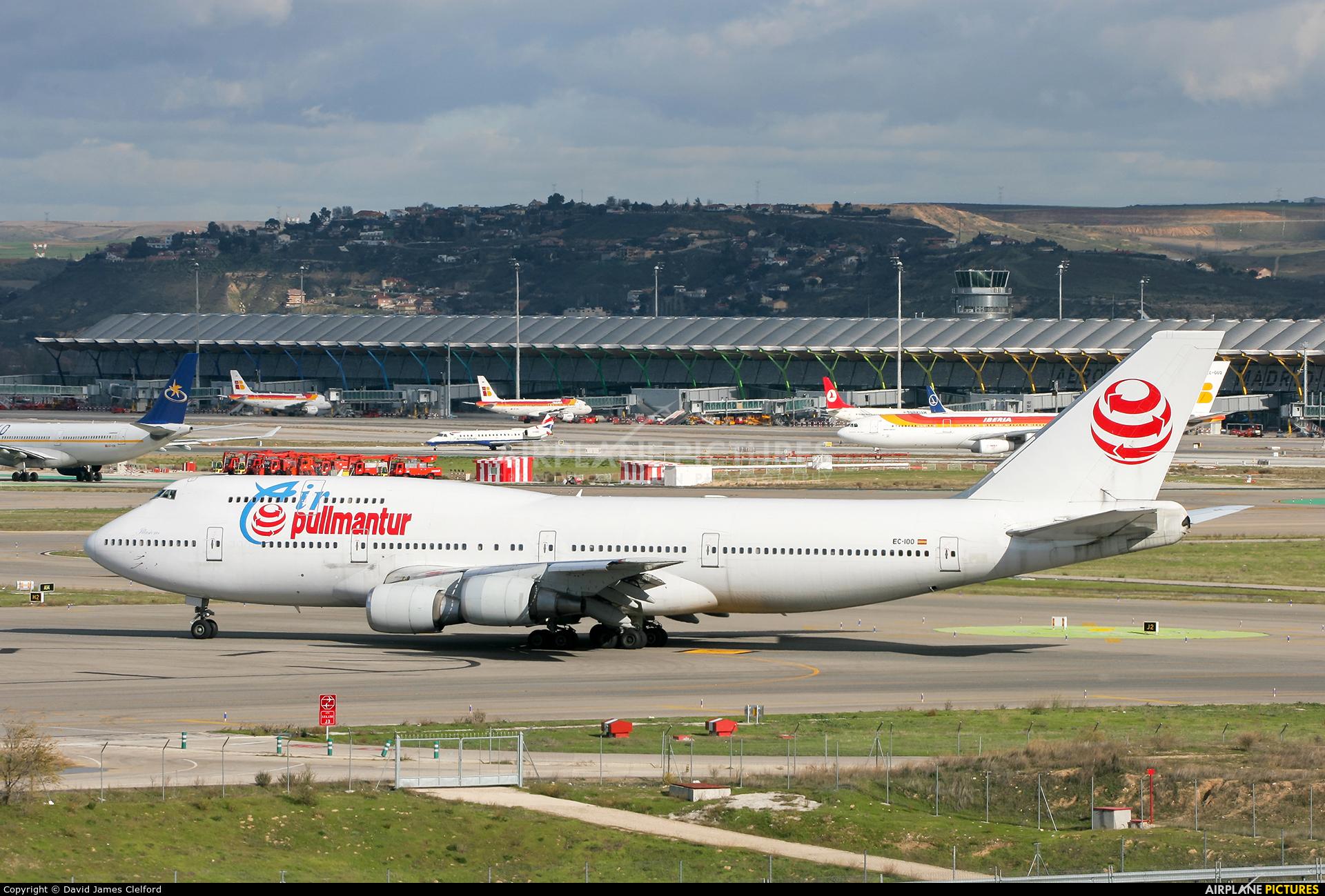 Air Pullmantur EC-IOO aircraft at Madrid - Barajas