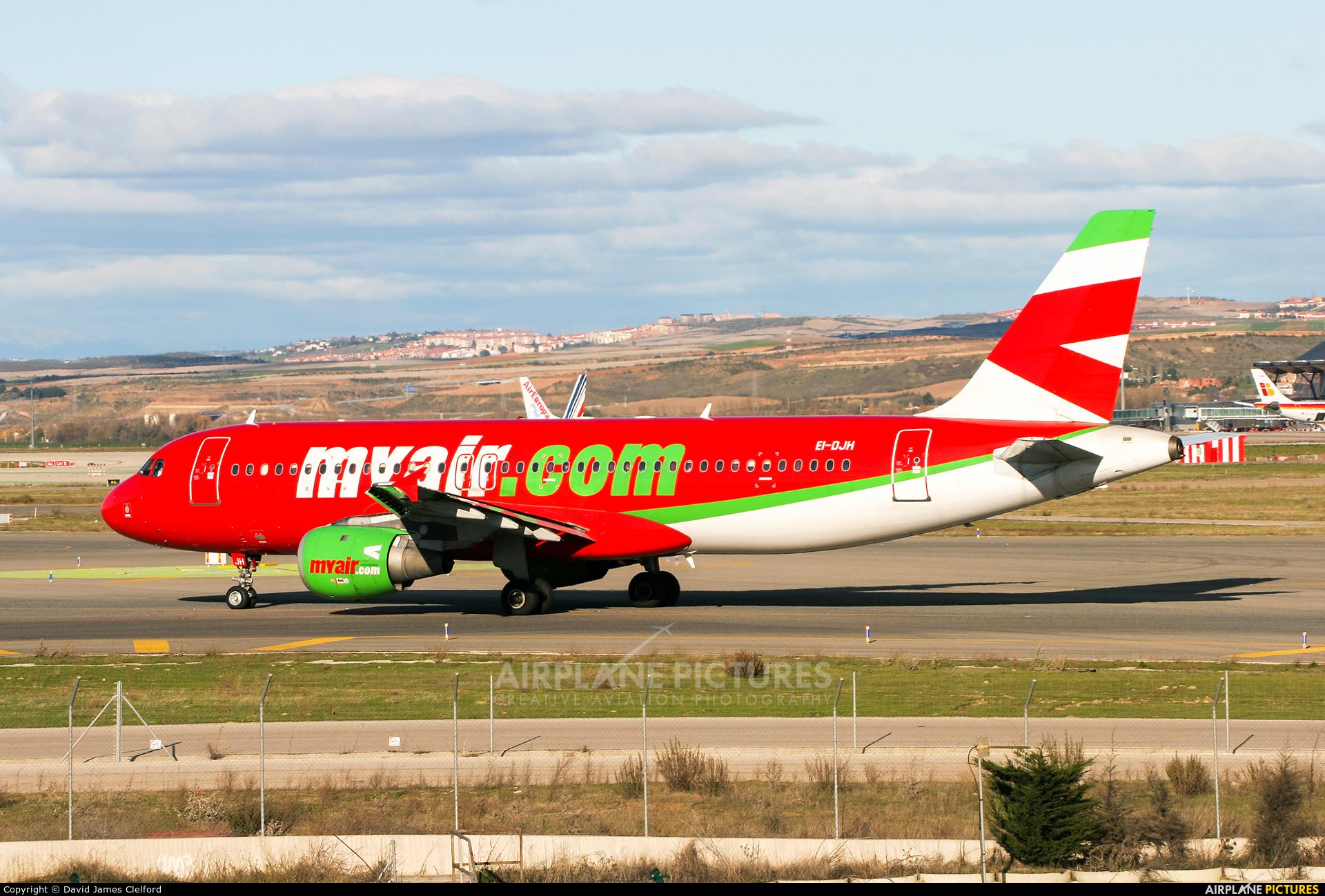 Myair EI-DJH aircraft at Madrid - Barajas
