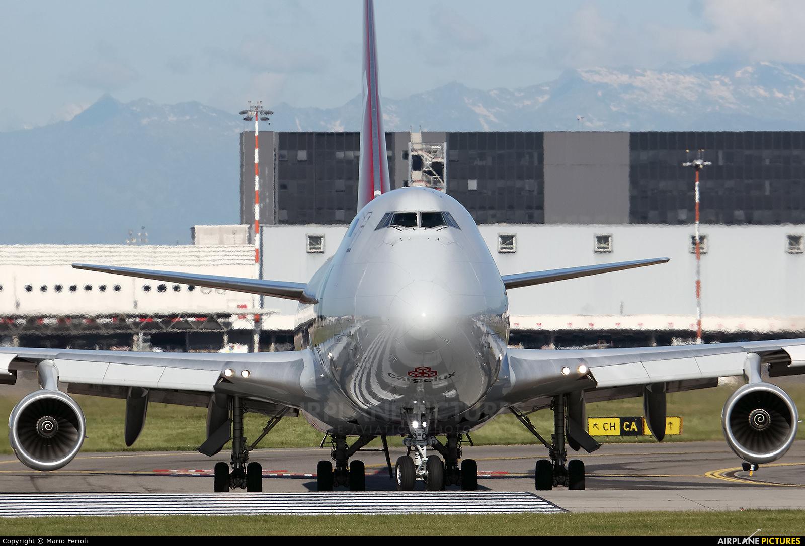 Cargolux LX-VCV aircraft at Milan - Malpensa