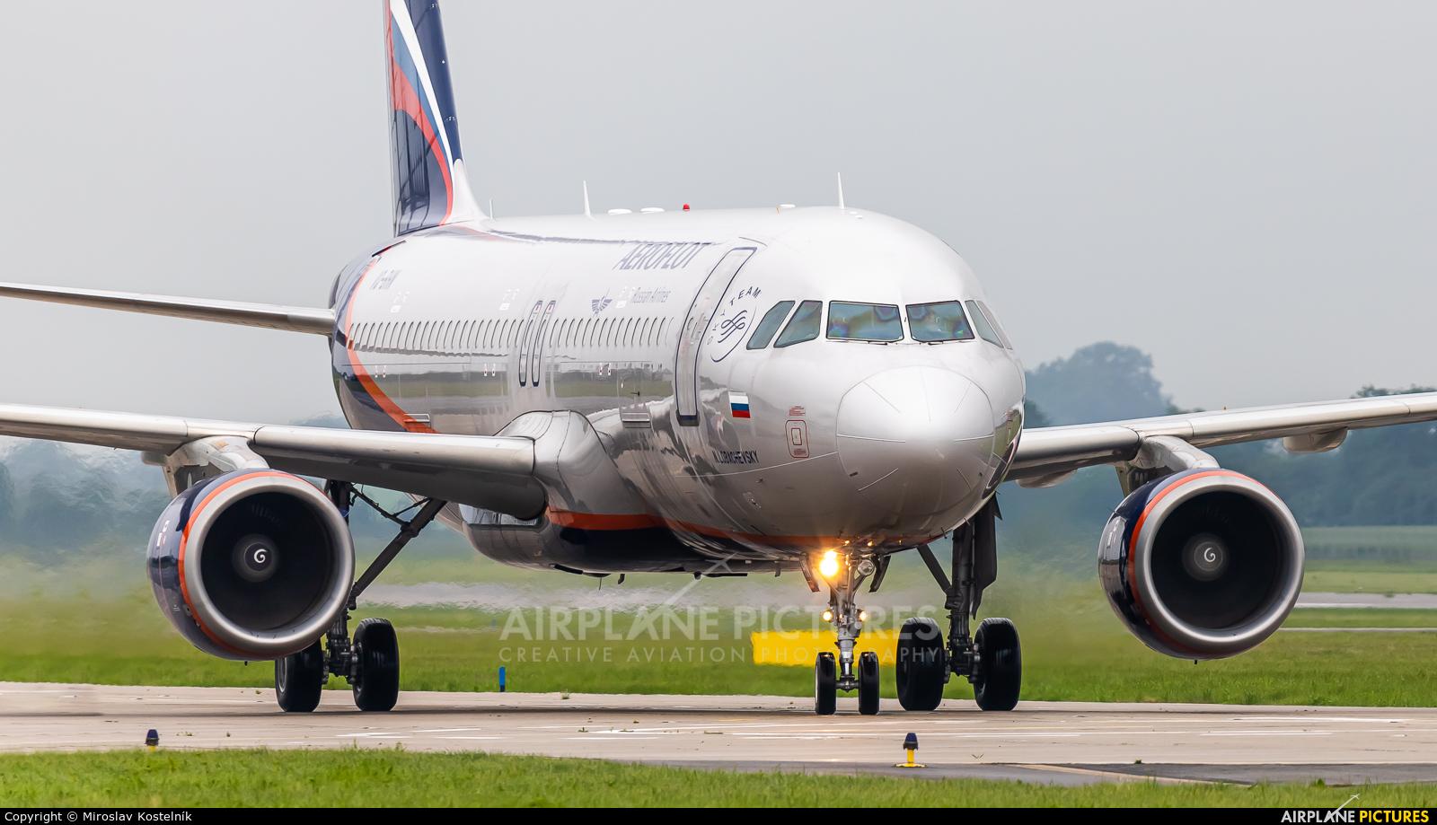 Aeroflot VQ-BHN aircraft at Ostrava Mošnov