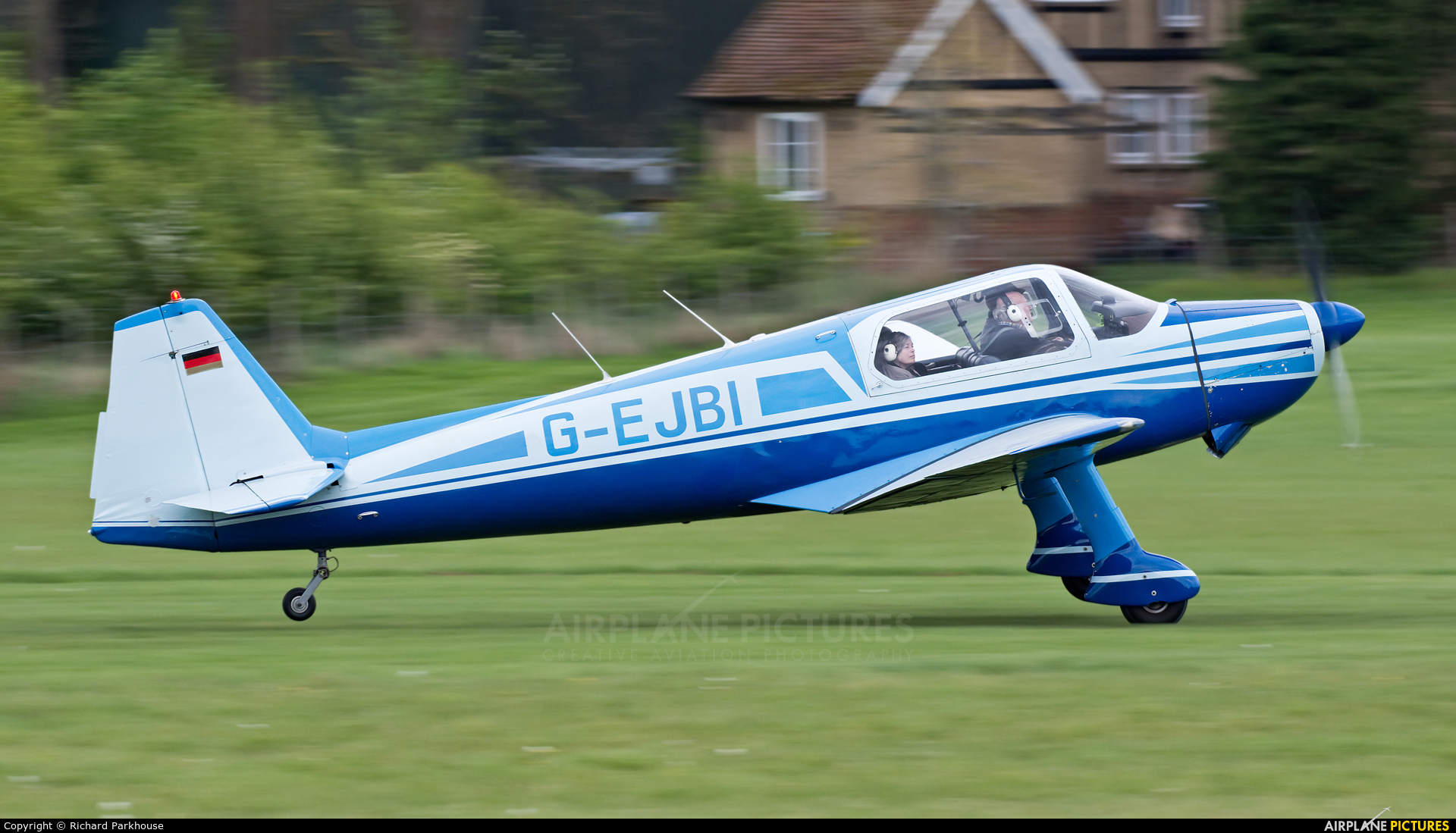 Private G-EJBI aircraft at Old Warden