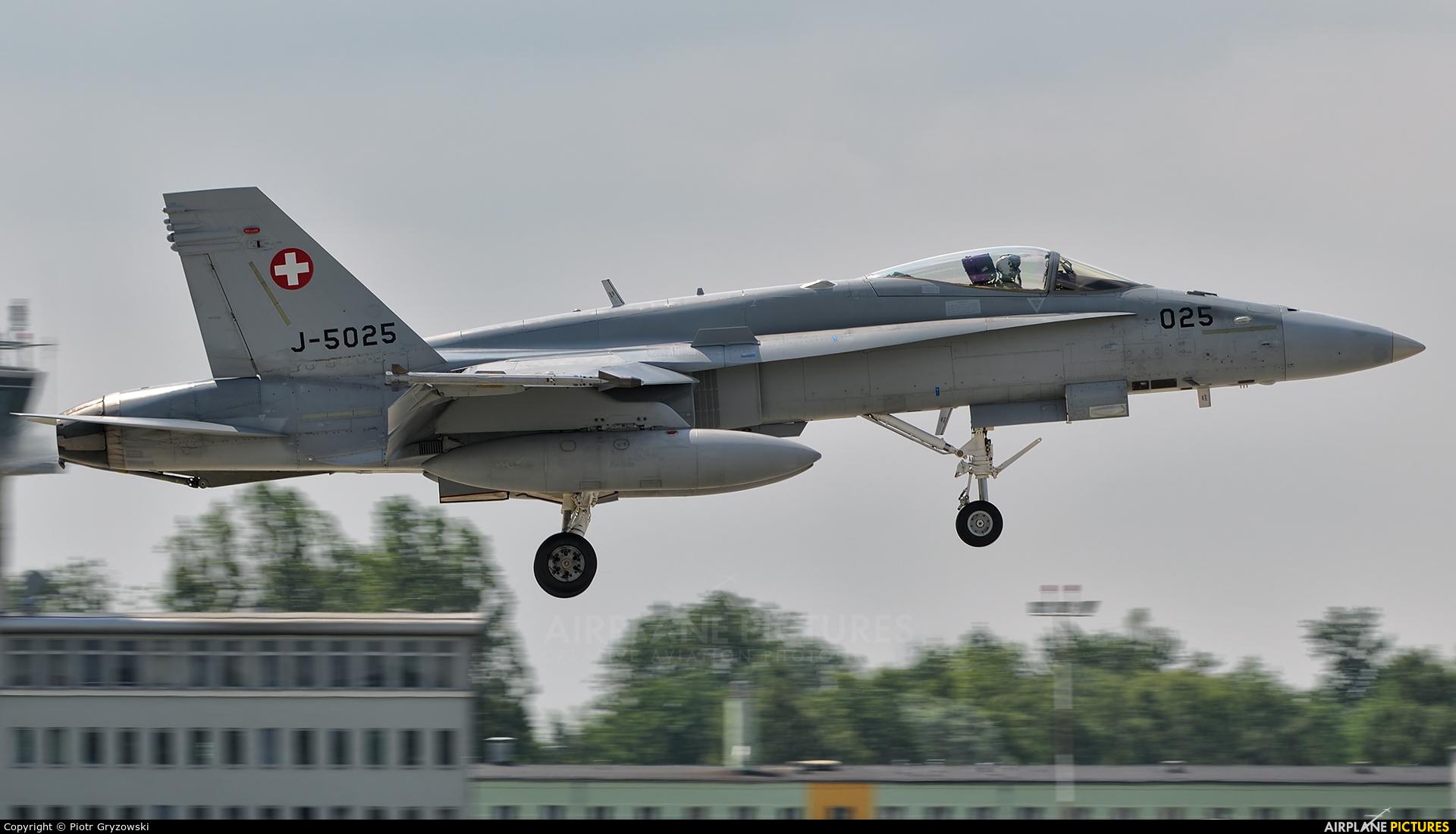 Switzerland - Air Force J-5025 aircraft at Poznań - Krzesiny