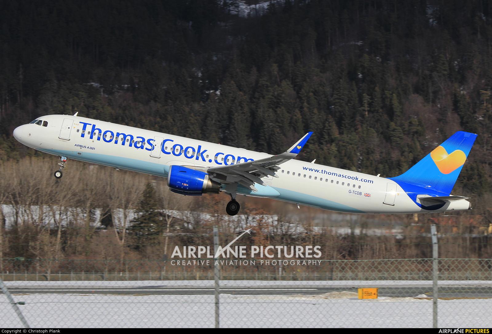 Thomas Cook G-TCDB aircraft at Innsbruck