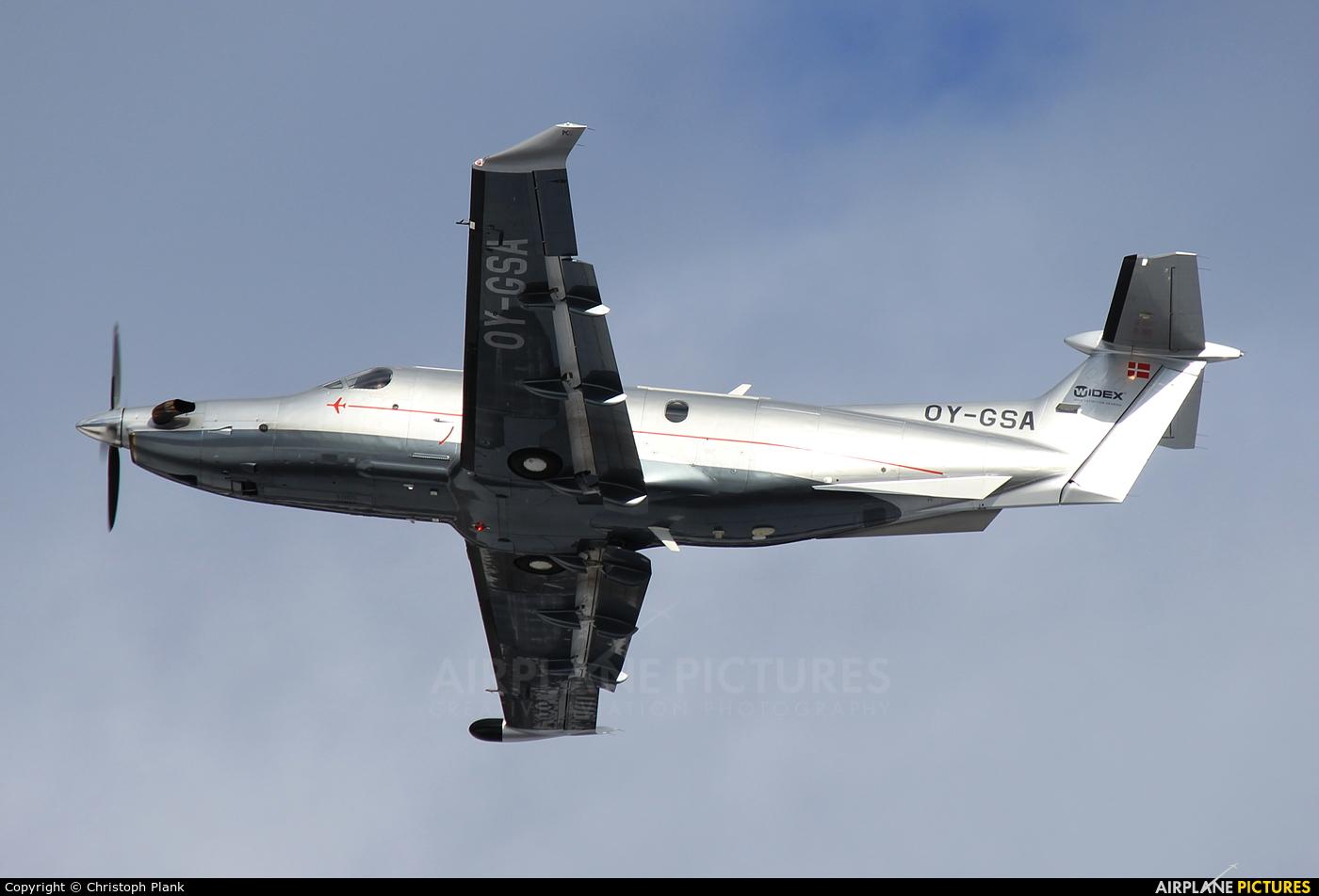 Widex OY-GSA aircraft at Innsbruck
