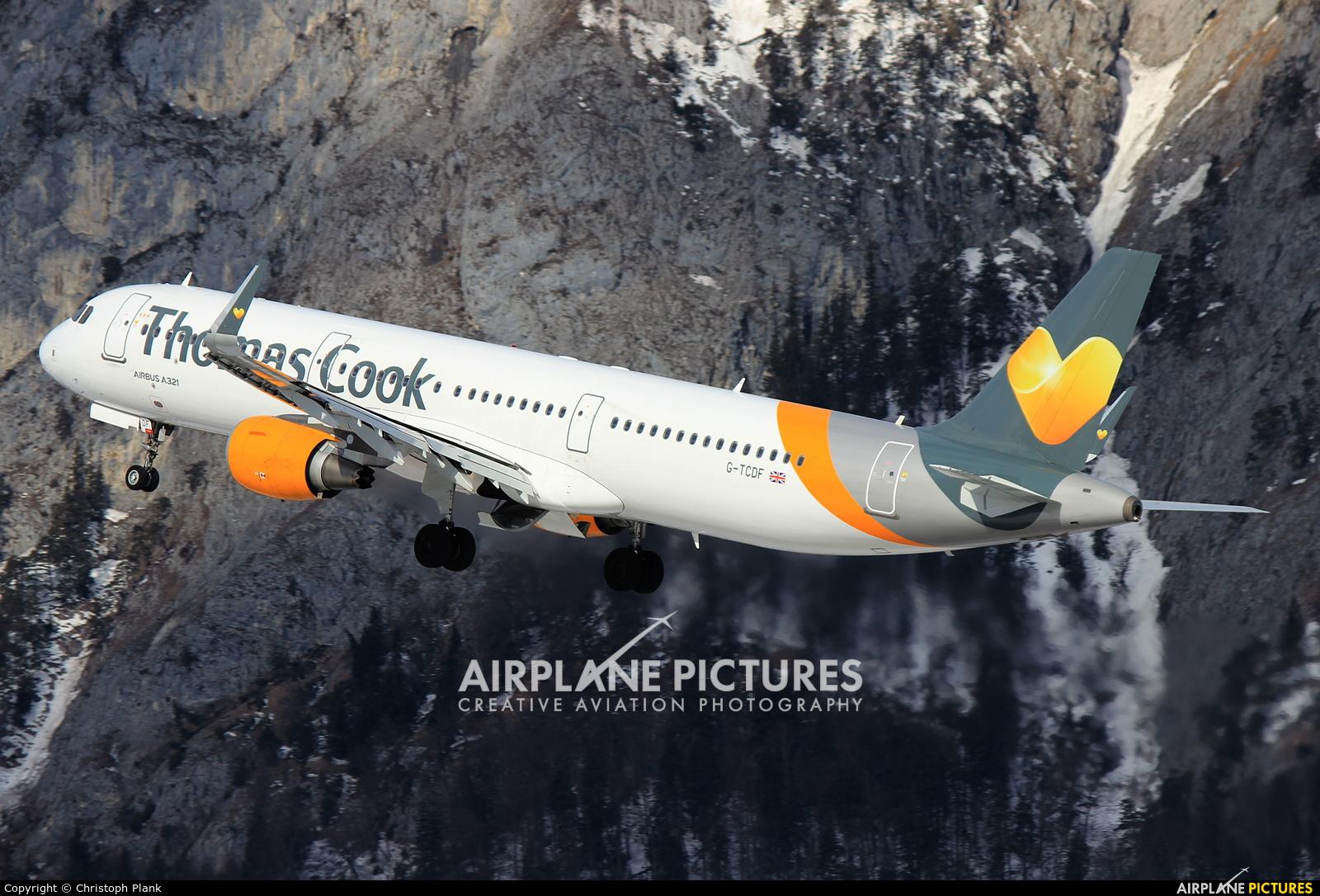 Thomas Cook G-TCDF aircraft at Innsbruck