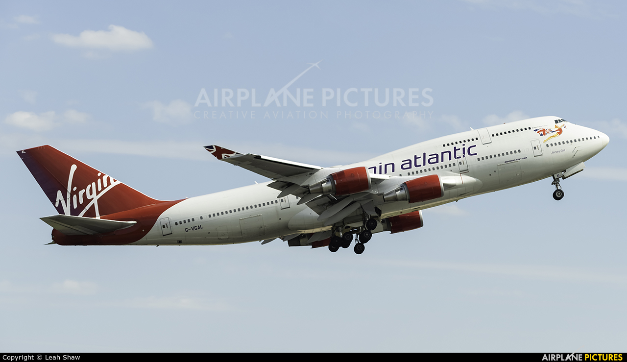 Virgin Atlantic G-VGAL aircraft at Manchester