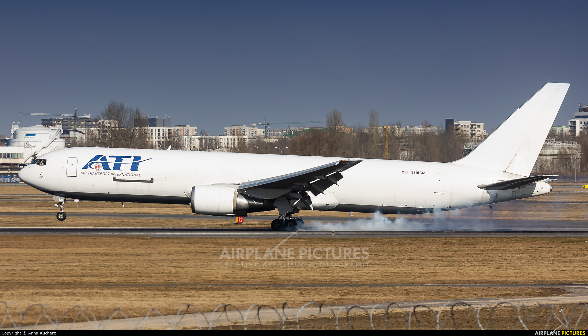 ATI - Air Transport International N316CM aircraft at Warsaw - Frederic Chopin