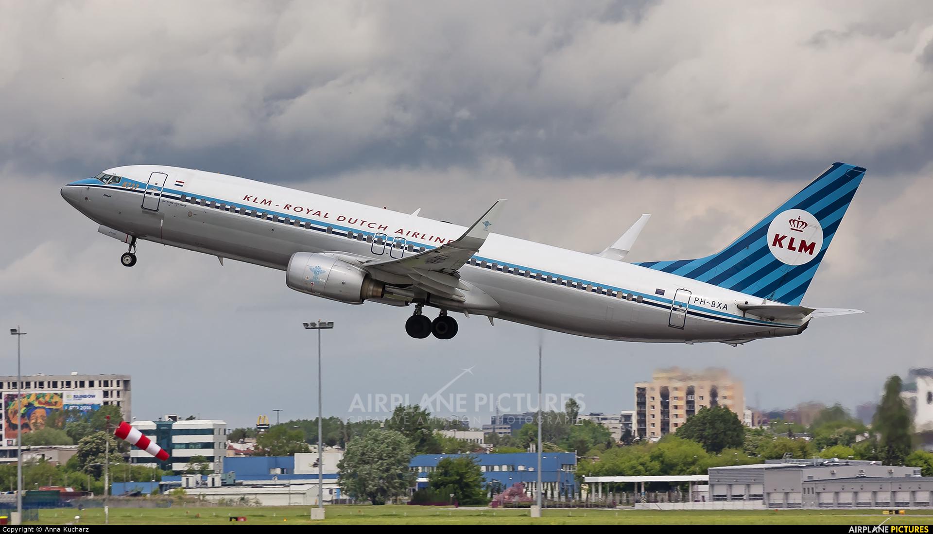 KLM PH-BXA aircraft at Warsaw - Frederic Chopin