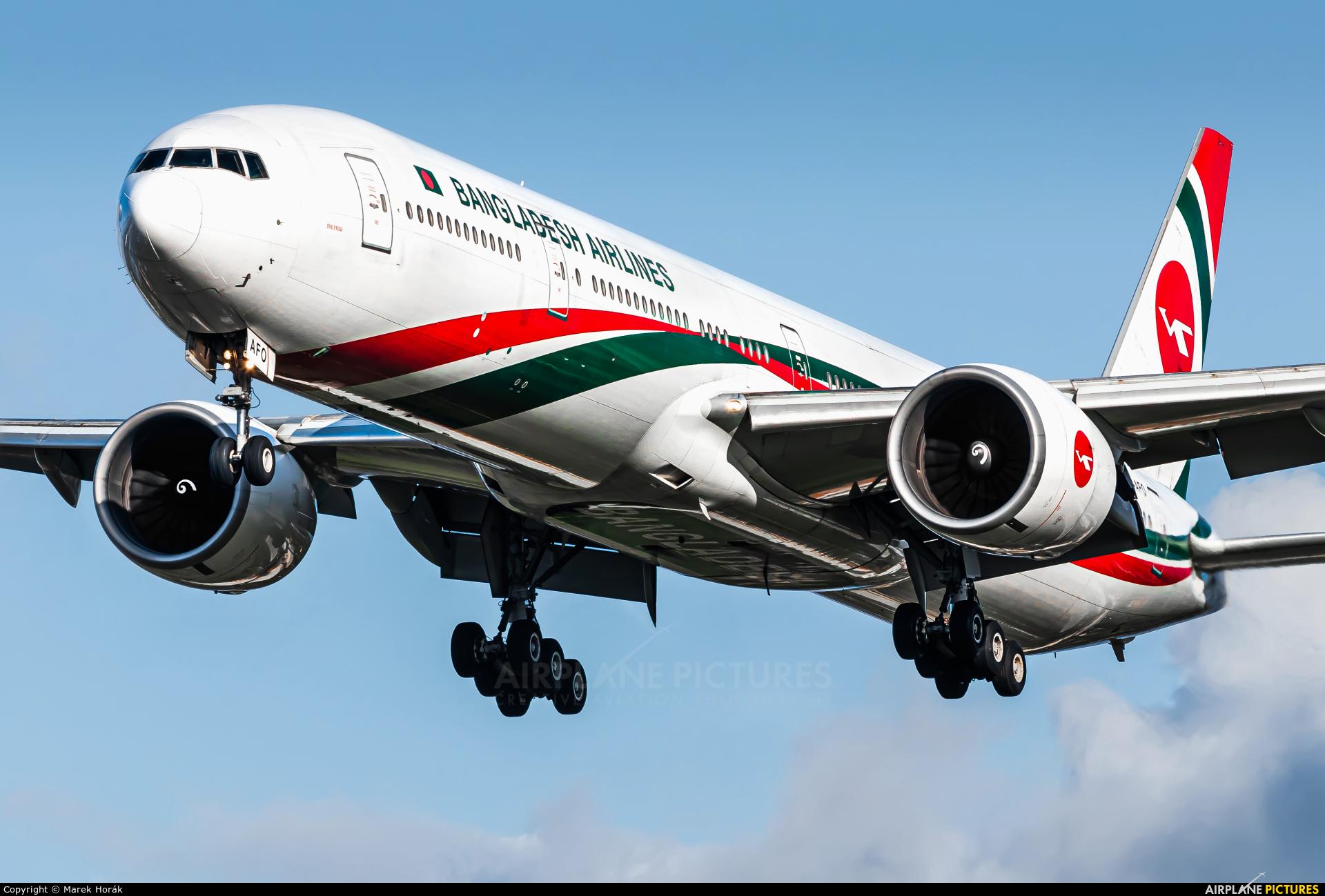 Biman Bangladesh S2-AFO aircraft at London - Heathrow