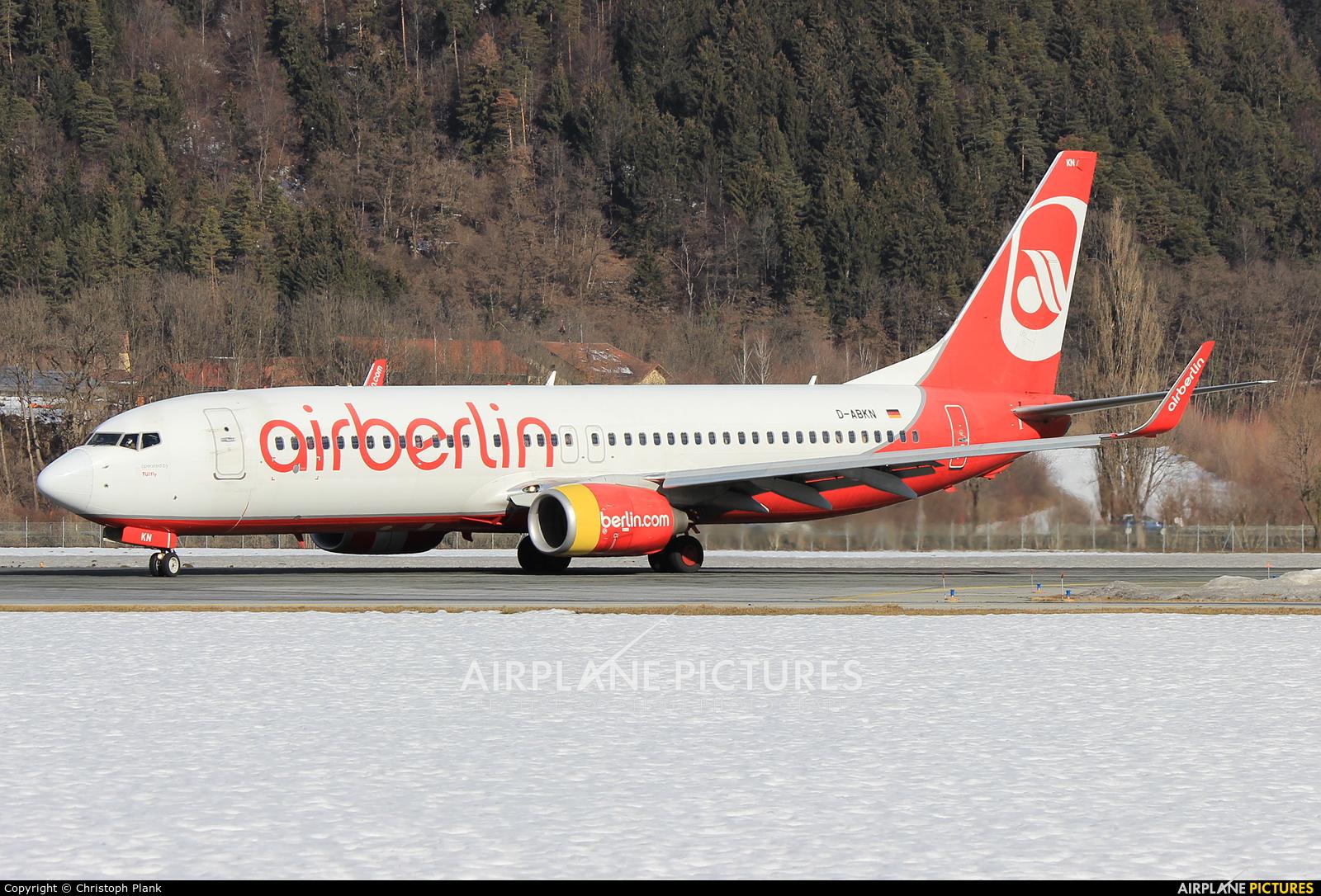 TUIfly D-ABKN aircraft at Innsbruck