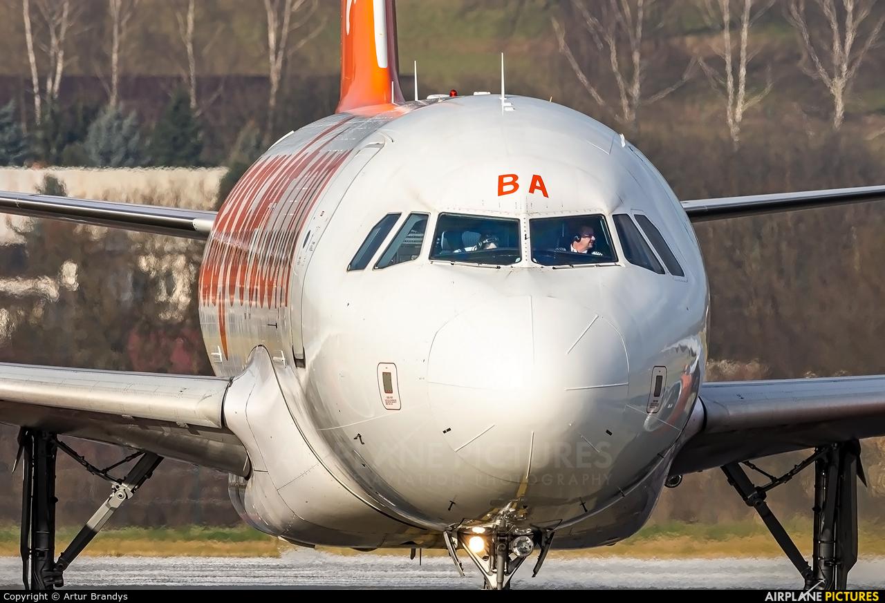 easyJet G-EZBA aircraft at Kraków - John Paul II Intl