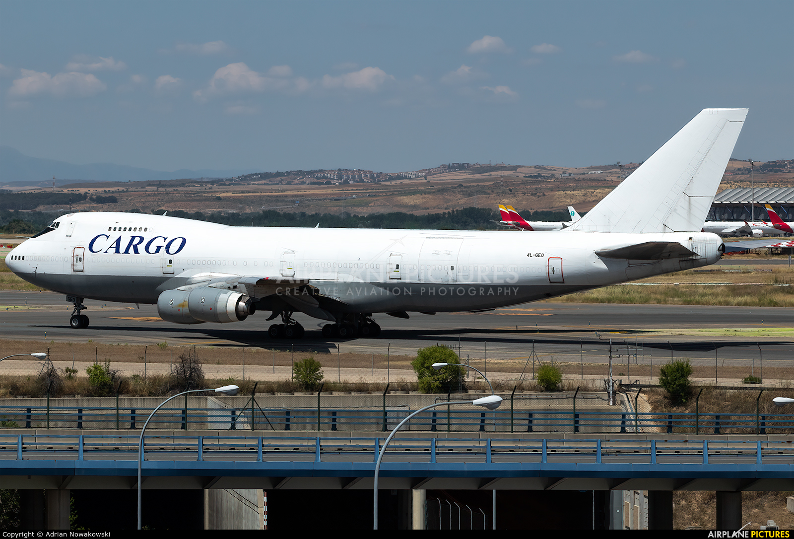 The Cargo Airlines 4L-GEO aircraft at Madrid - Barajas