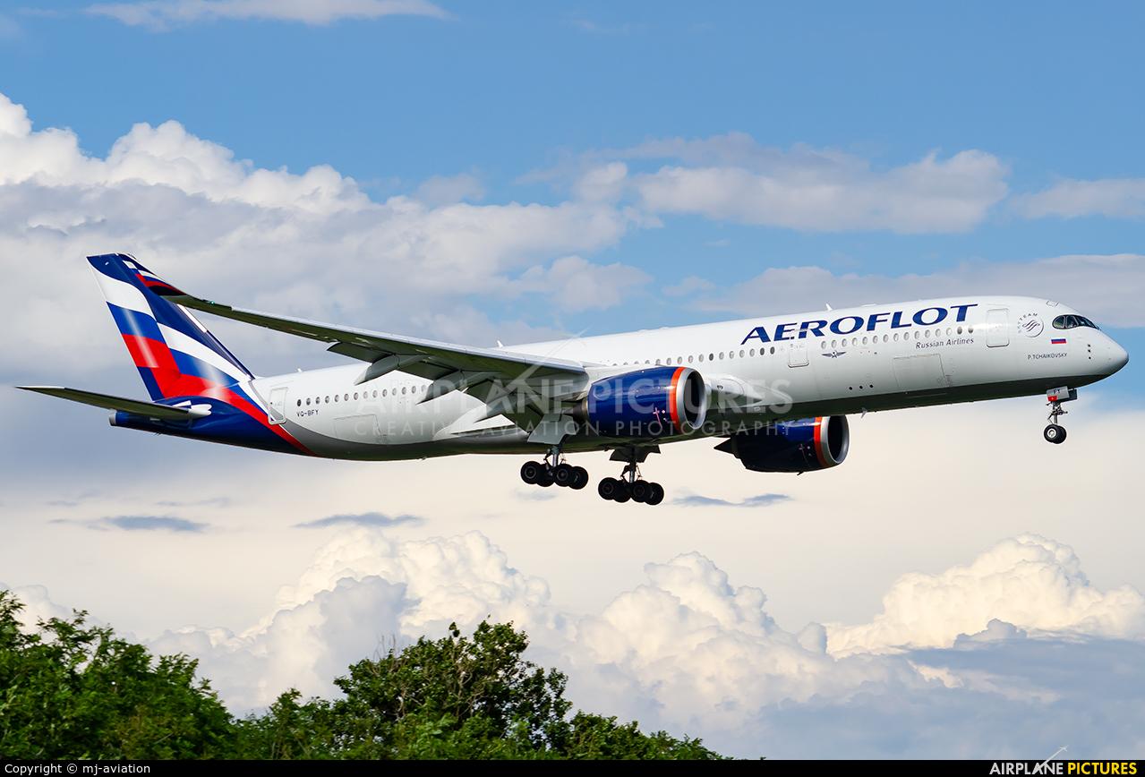 Aeroflot VQ-BFY aircraft at Rome - Fiumicino