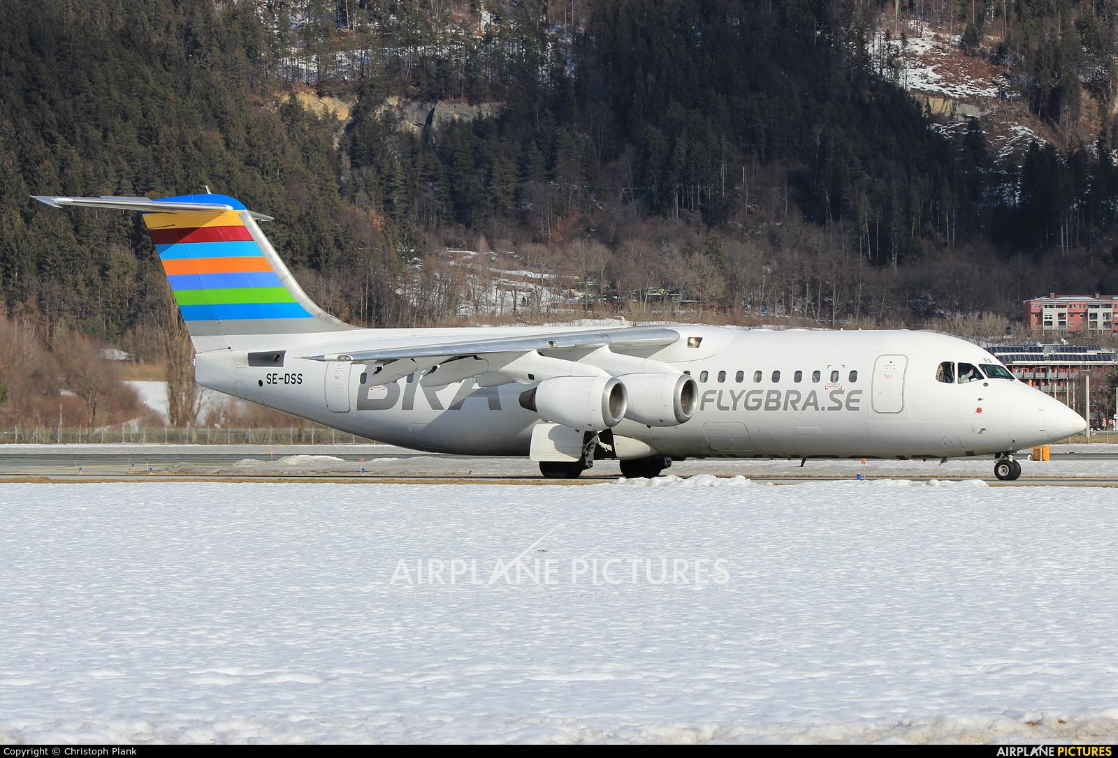 BRA (Sweden) SE-DSS aircraft at Innsbruck