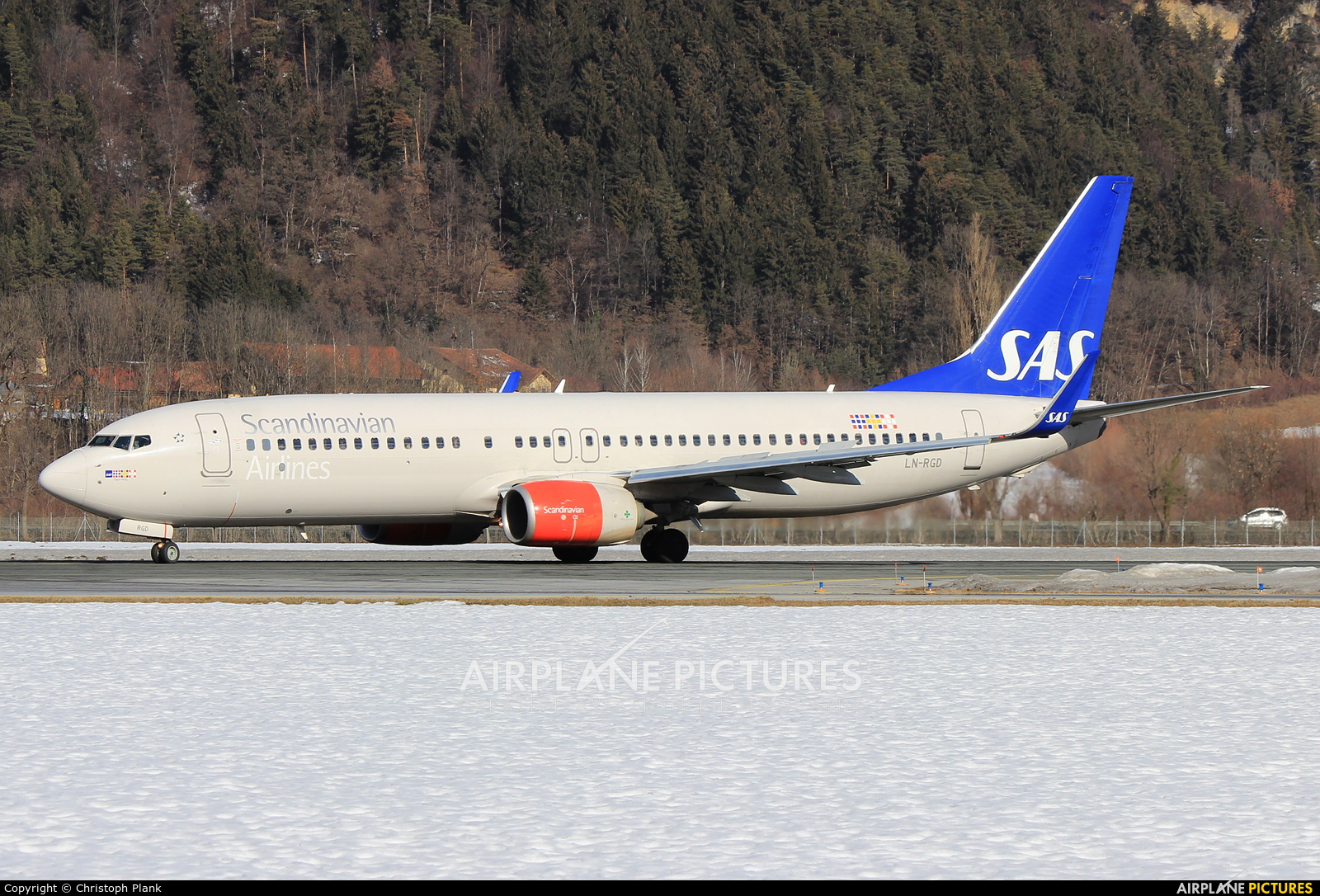 SAS - Scandinavian Airlines LN-RGD aircraft at Innsbruck