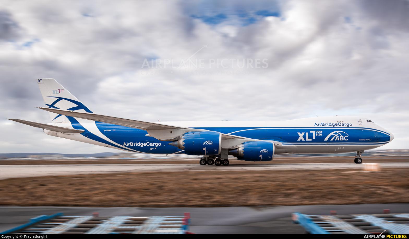 Air Bridge Cargo VP-BBY aircraft at Frankfurt