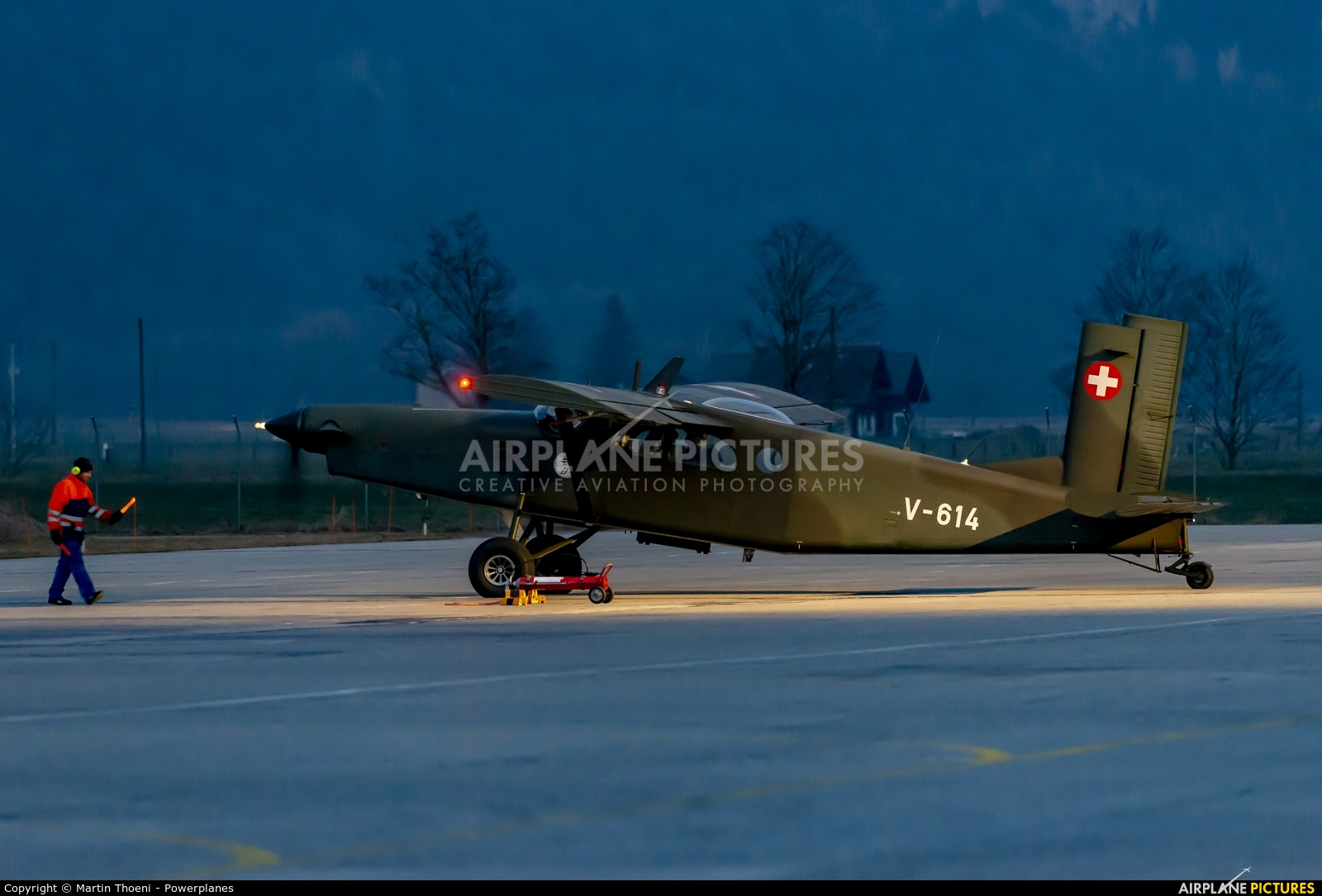 Switzerland - Air Force V-614 aircraft at Meiringen