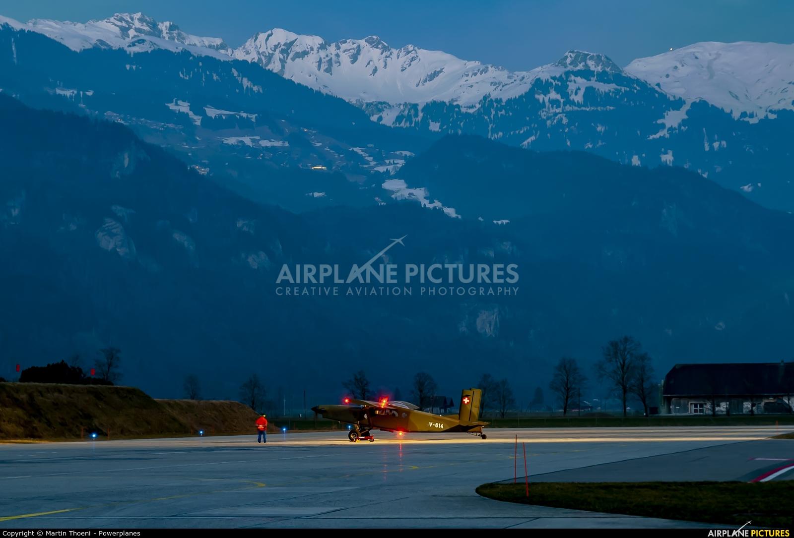 - Airport Overview V-614 aircraft at Meiringen