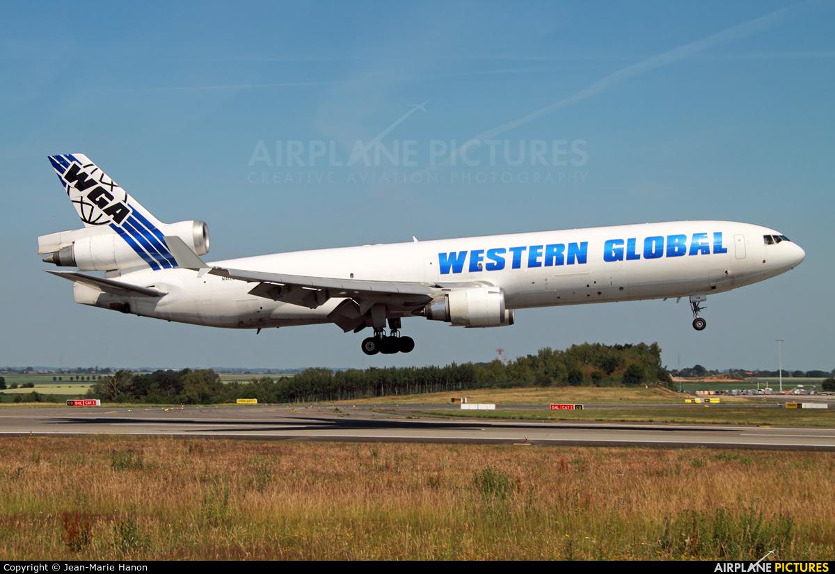 Western Global Airlines N412SN aircraft at Liège-Bierset