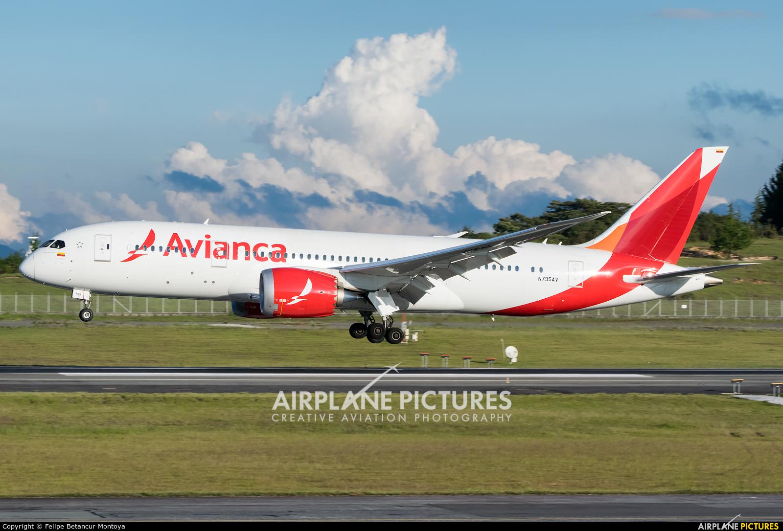 Avianca N795AV aircraft at Medellin - Jose Maria Cordova Intl