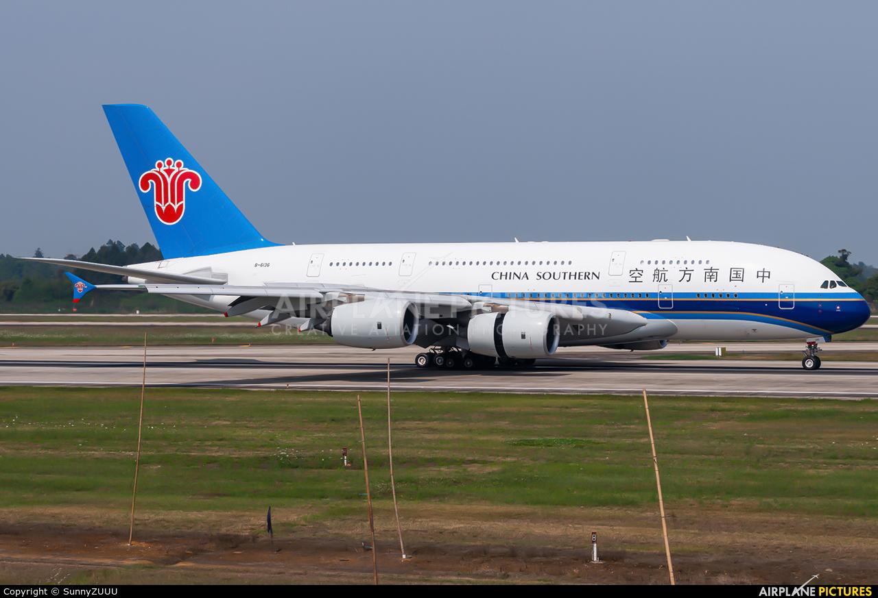 China Southern Airlines B-6136 aircraft at Chengdu