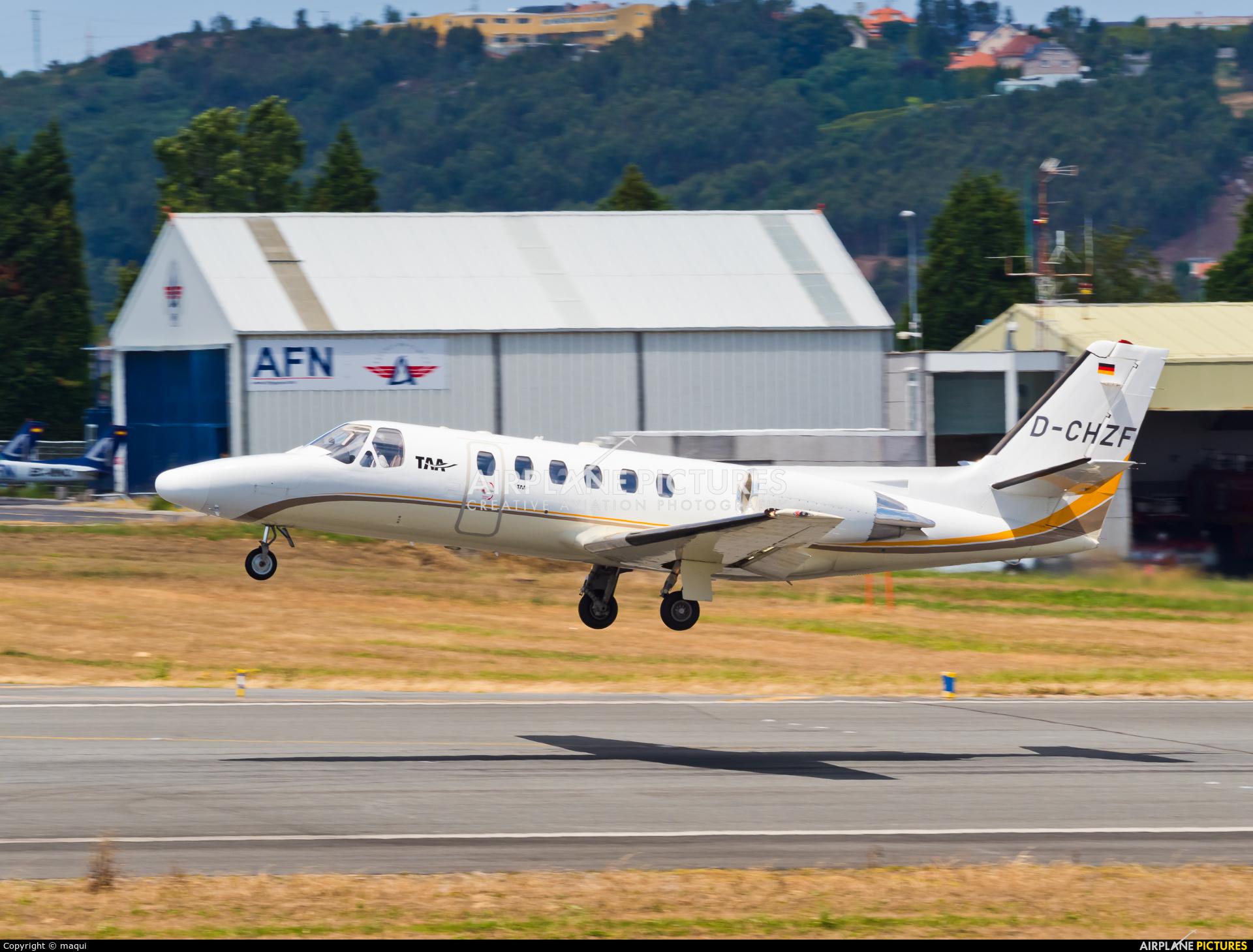 Tyrol Air Ambulance D-CHZF aircraft at La Coruña