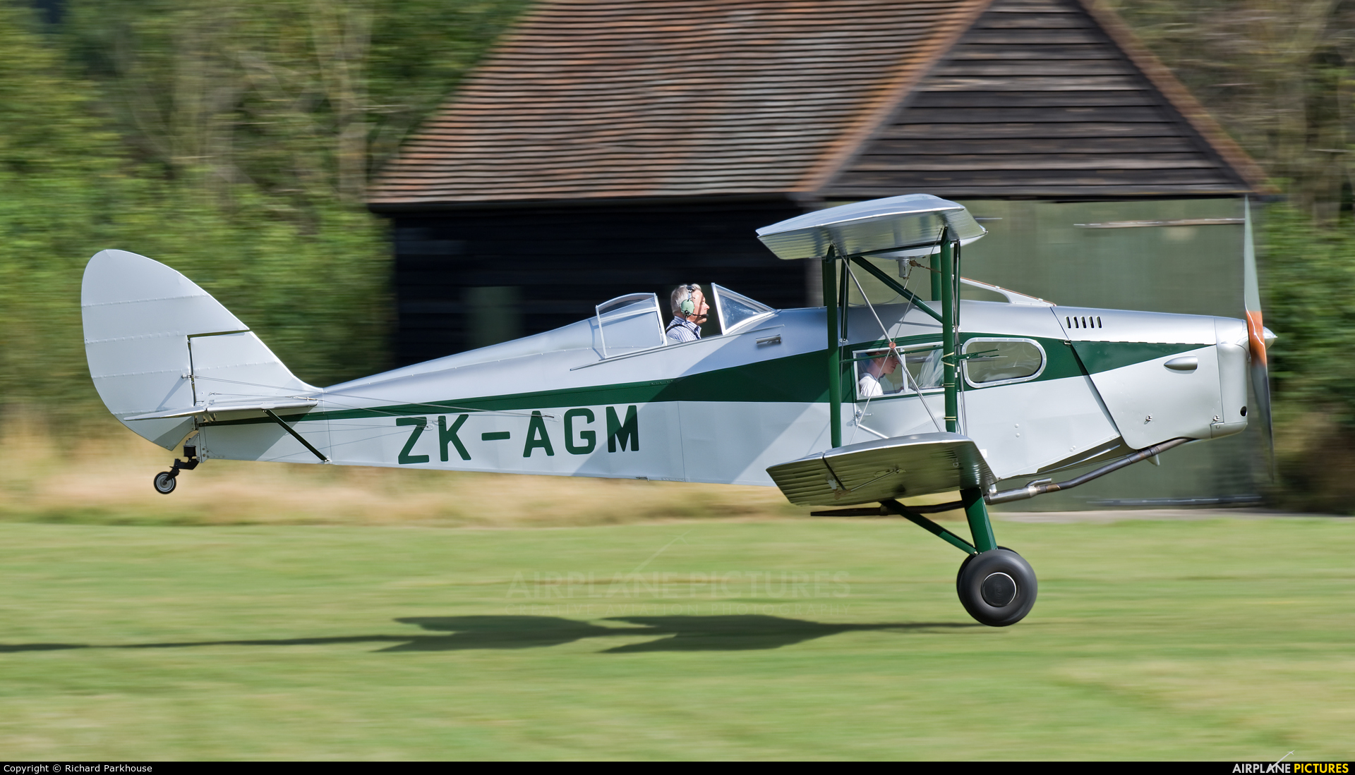 Private ZK-AGM aircraft at Old Warden