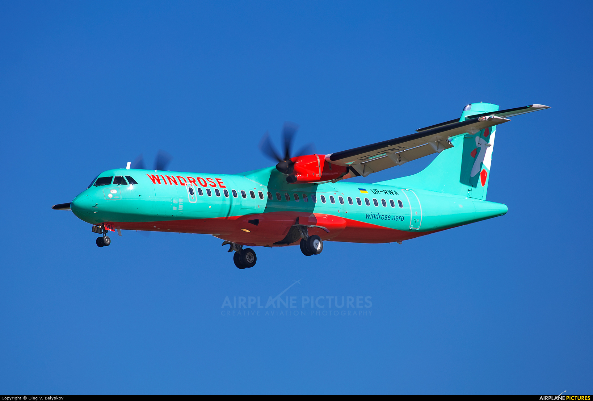 Windrose Air UR-RWA aircraft at Kyiv - Borispol