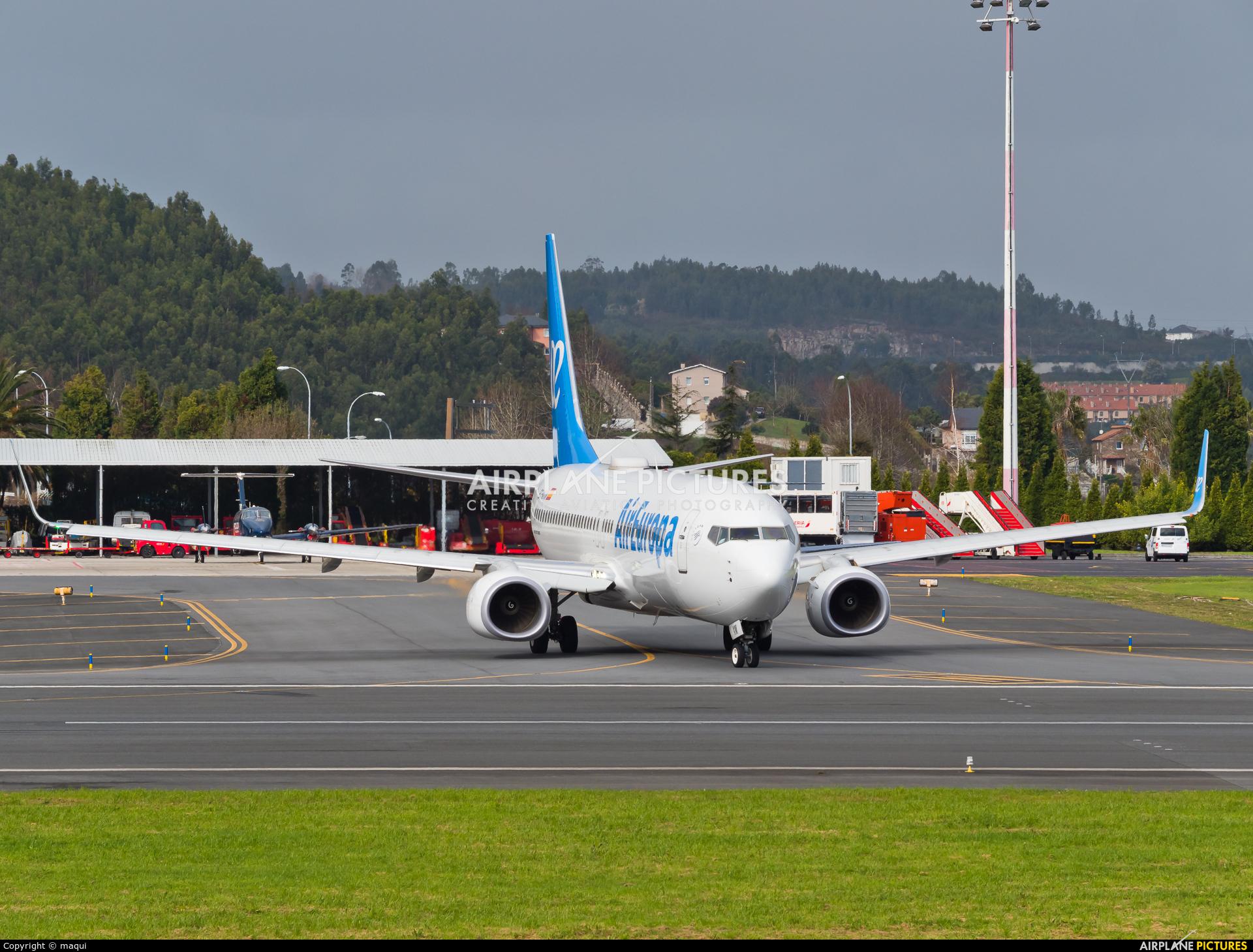 Air Europa EC-MXM aircraft at La Coruña