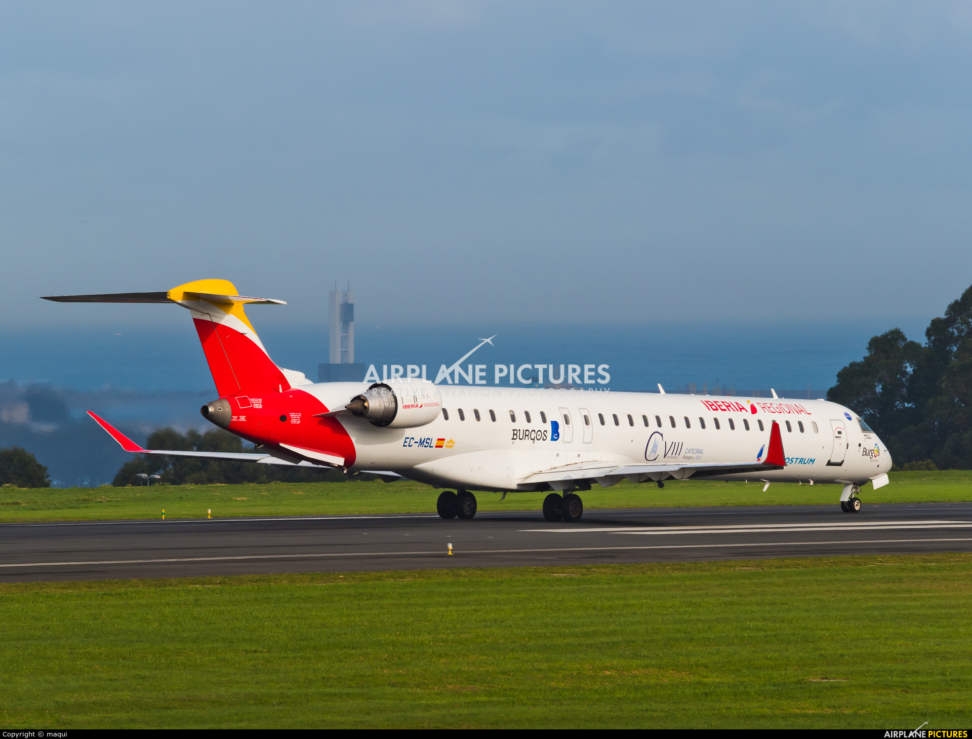 Air Nostrum - Iberia Regional EC-MSL aircraft at La Coruña