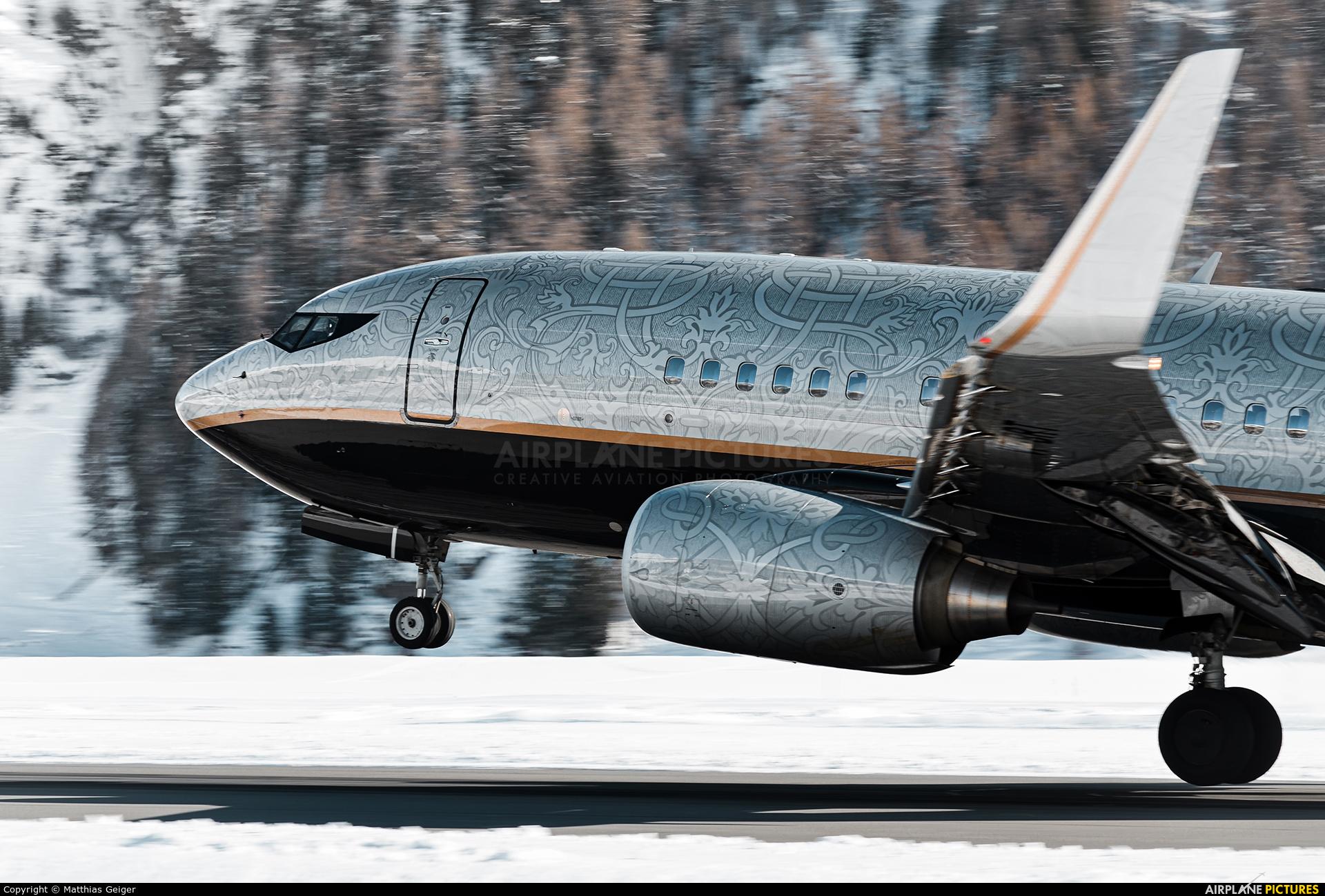 Private VP-BRT aircraft at Samedan - Engadin